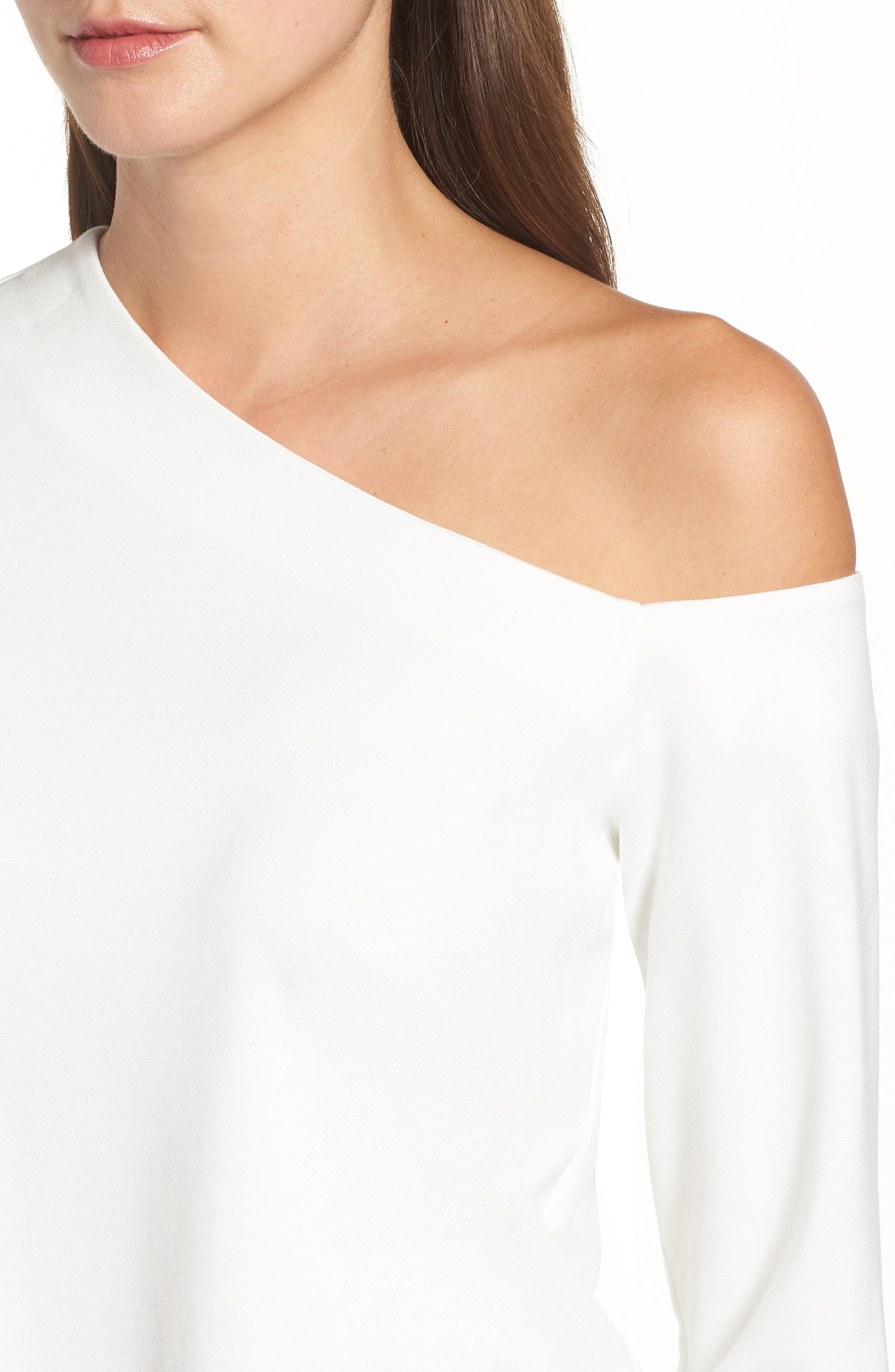One-Shoulder Knit Tee,                             Alternate thumbnail 15, color,