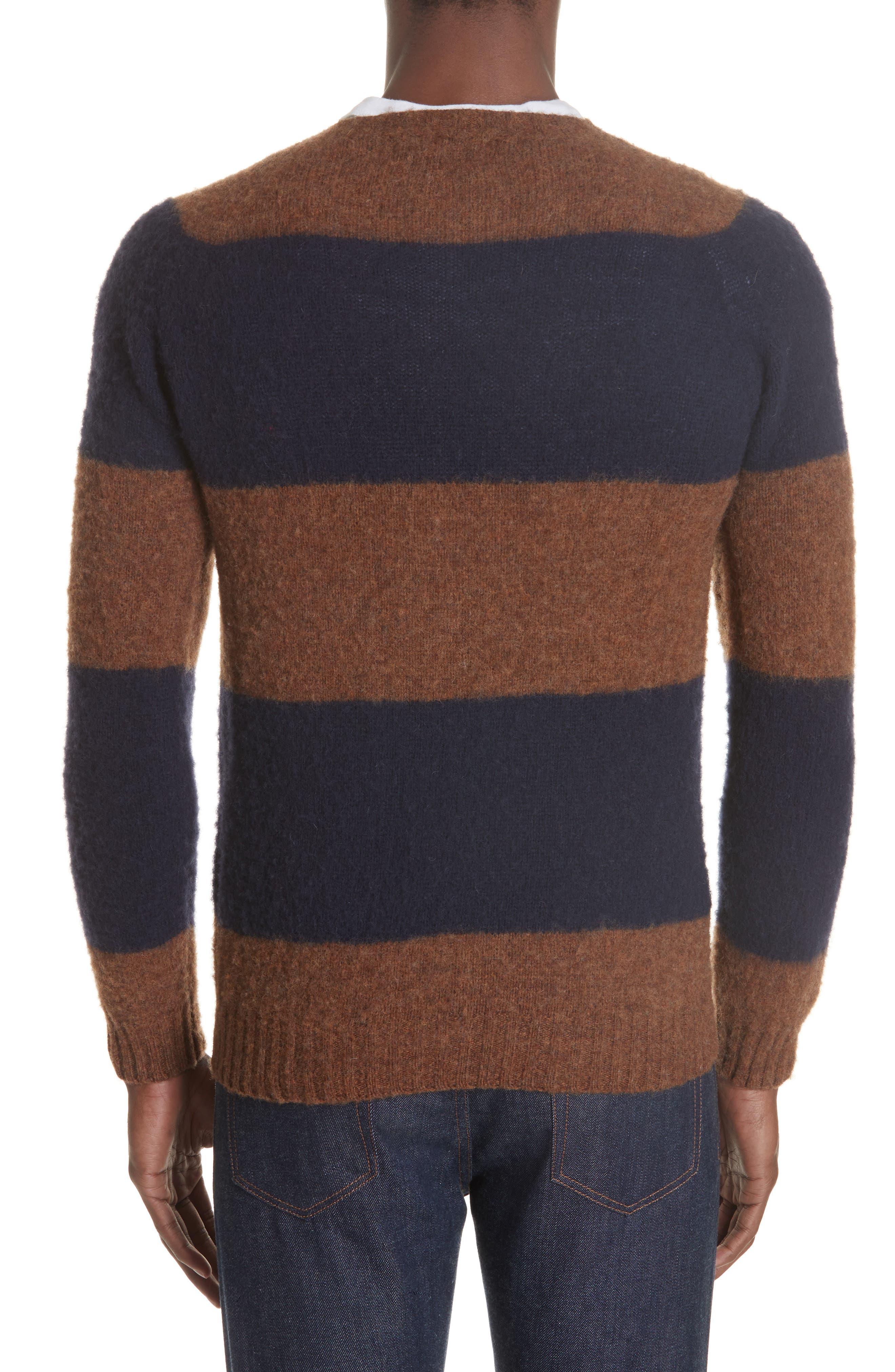 Officine Générale Stripe Wool Crew Sweater,                             Alternate thumbnail 2, color,                             411
