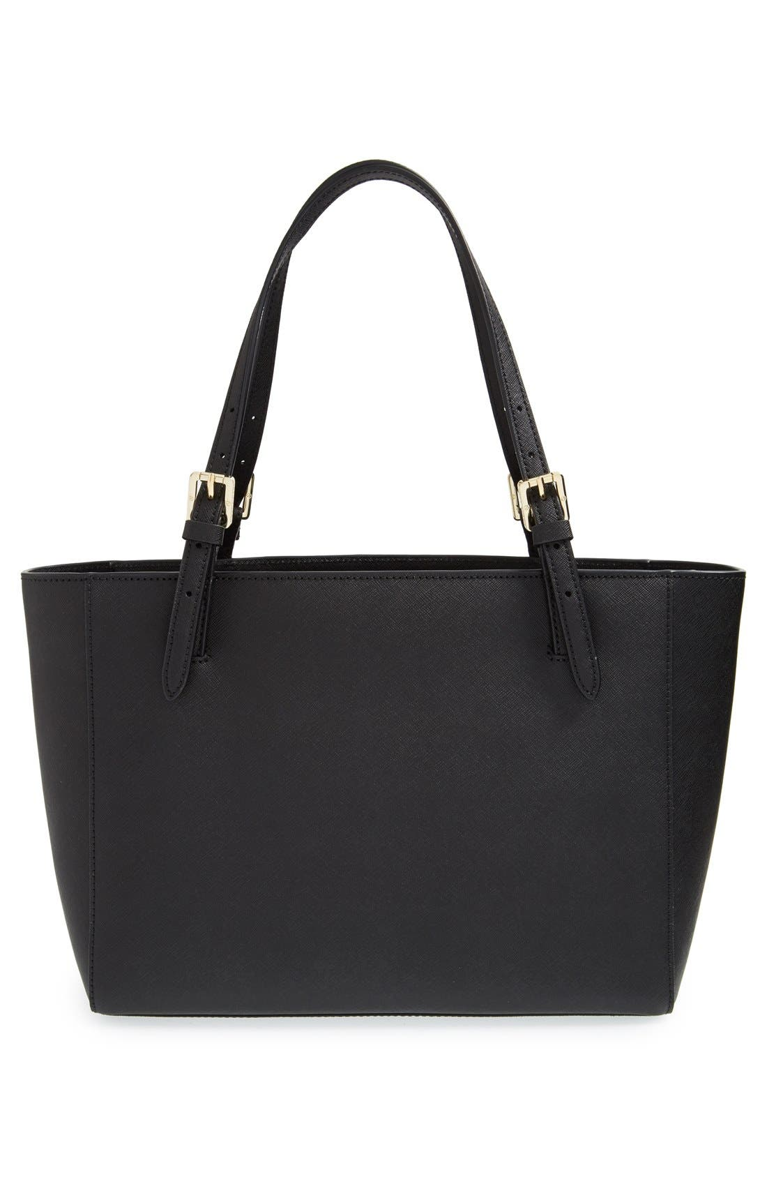 'Small York' Saffiano Leather Buckle Tote,                             Alternate thumbnail 31, color,