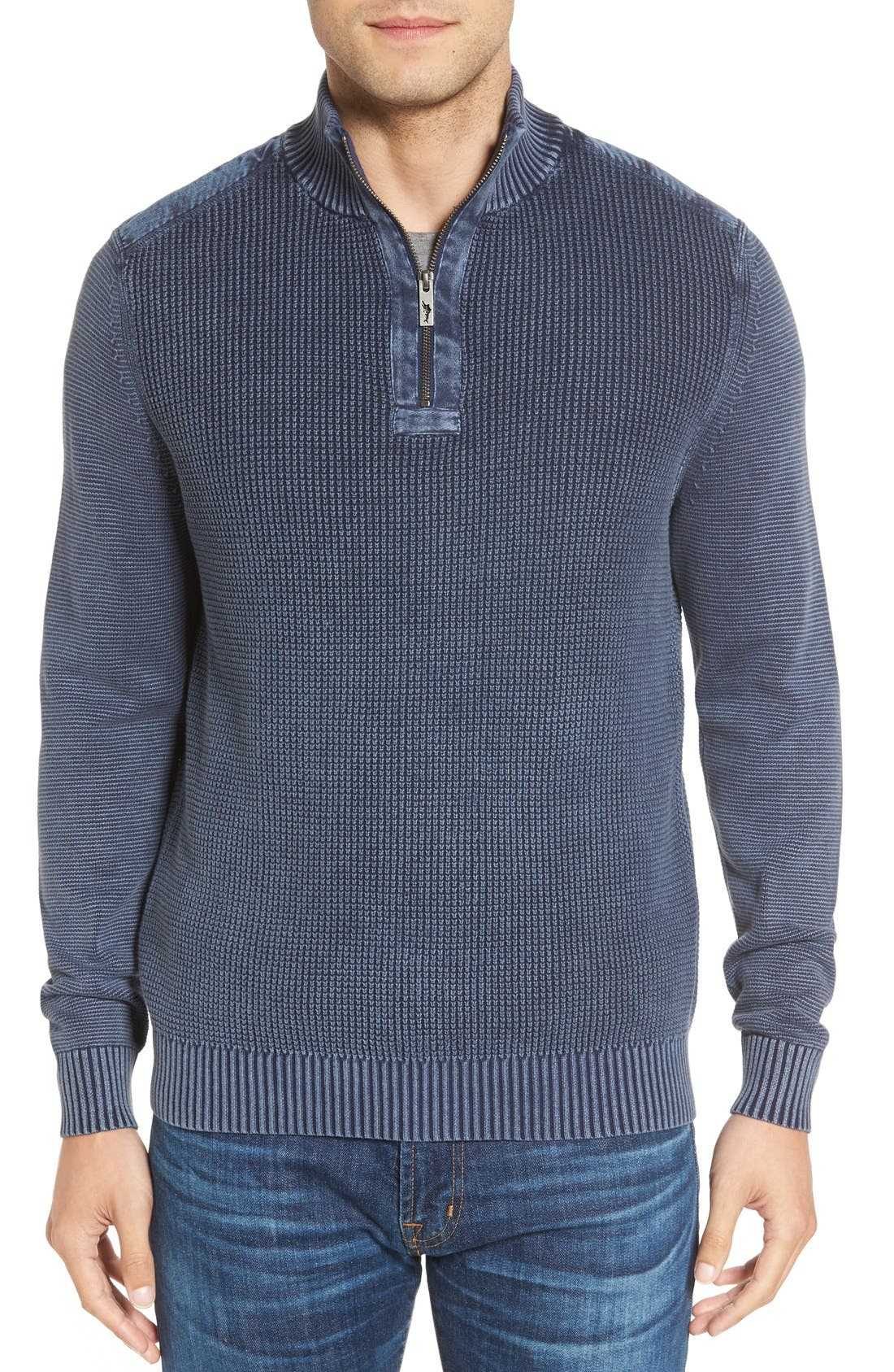'Coastal Shores' Quarter Zip Sweater,                             Main thumbnail 8, color,