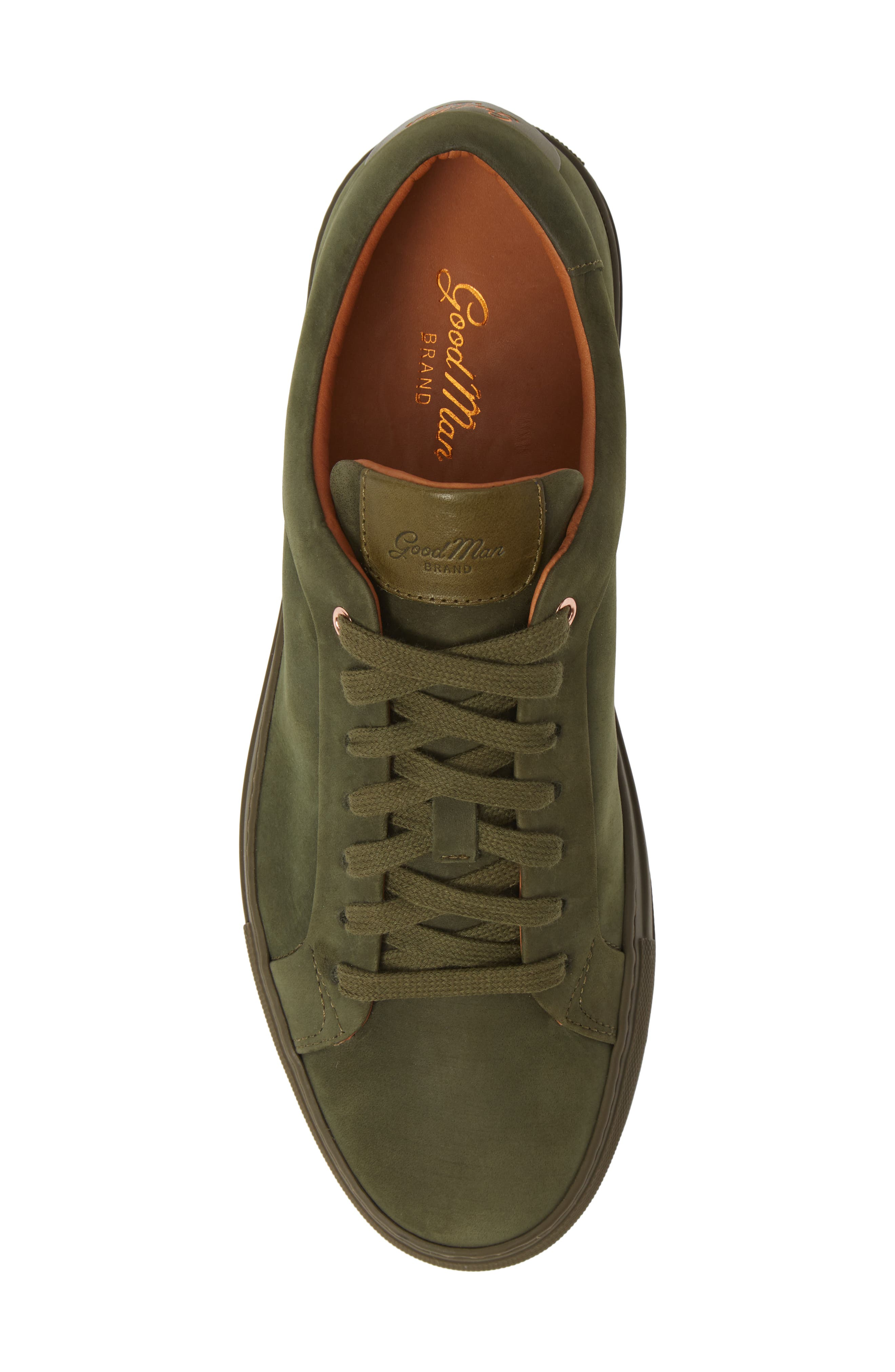 Sure Shot Lo Sneaker,                             Alternate thumbnail 5, color,                             MILITARY GREEN LEATHER