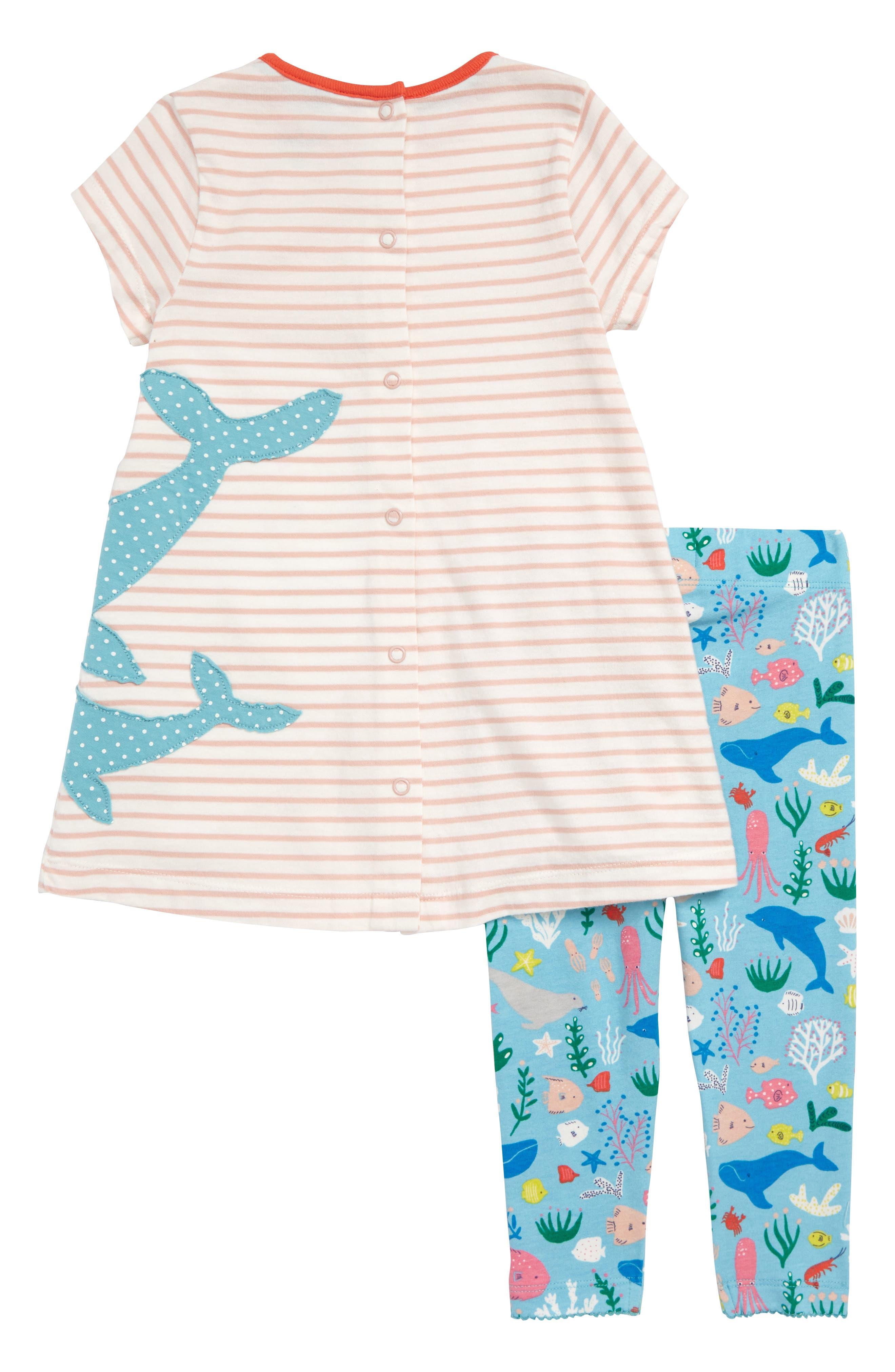 Appliqué T-Shirt Dress & Leggings Set,                             Alternate thumbnail 2, color,                             684