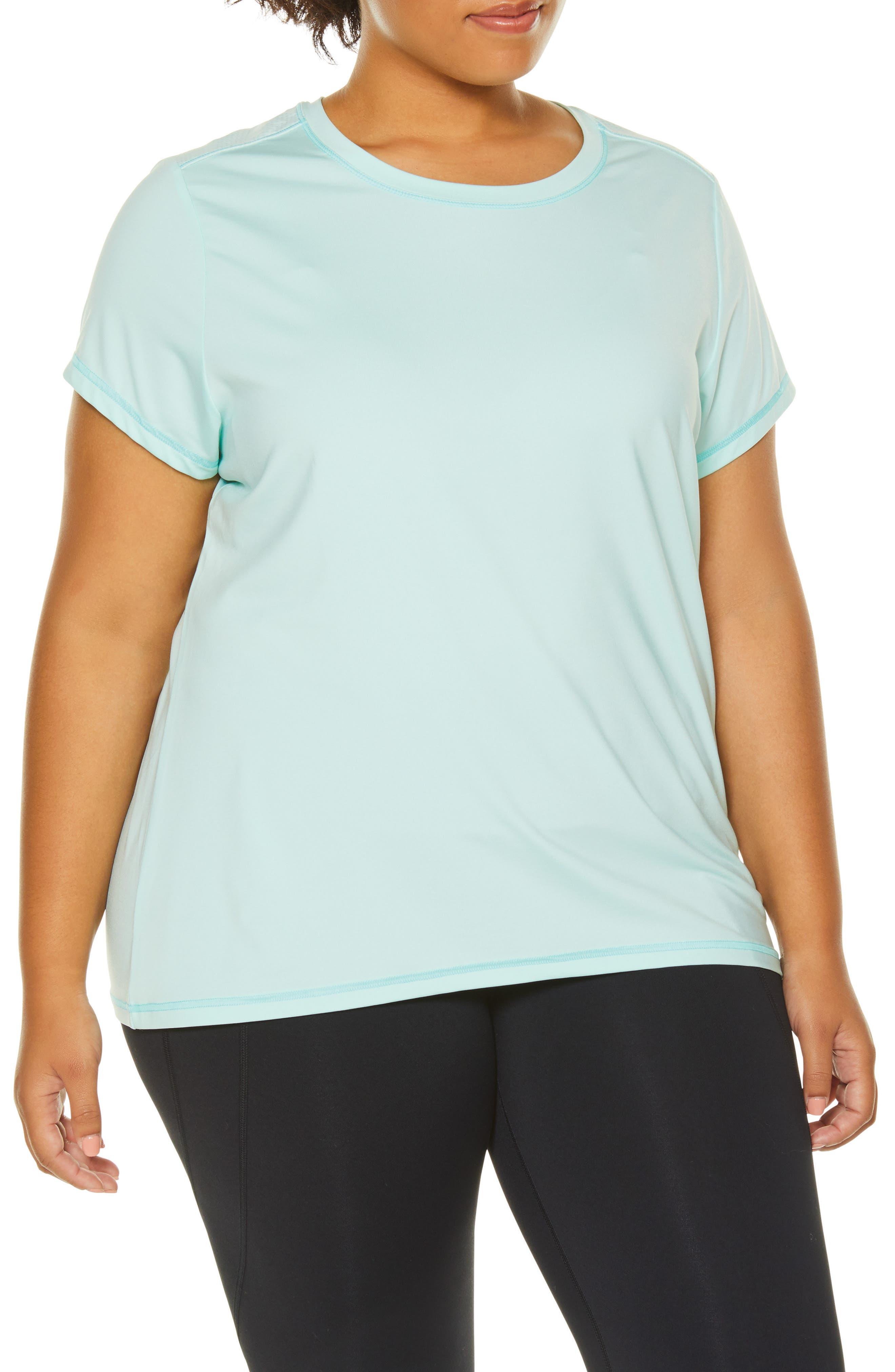Plus Size Shape Activewear Wishbone Tee, Blue/green