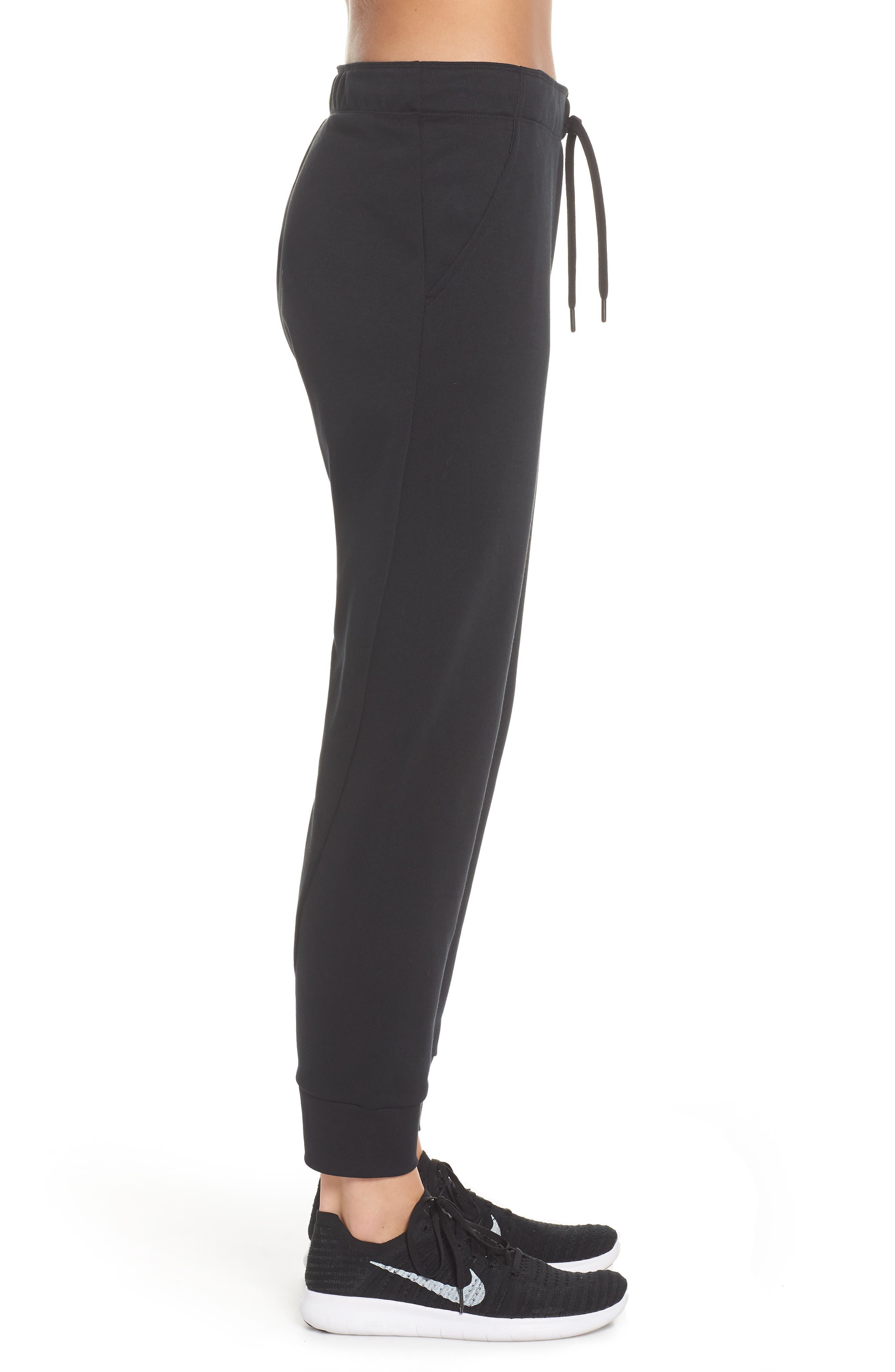 Tapered Training Pants,                             Alternate thumbnail 3, color,                             BLACK/ BLACK