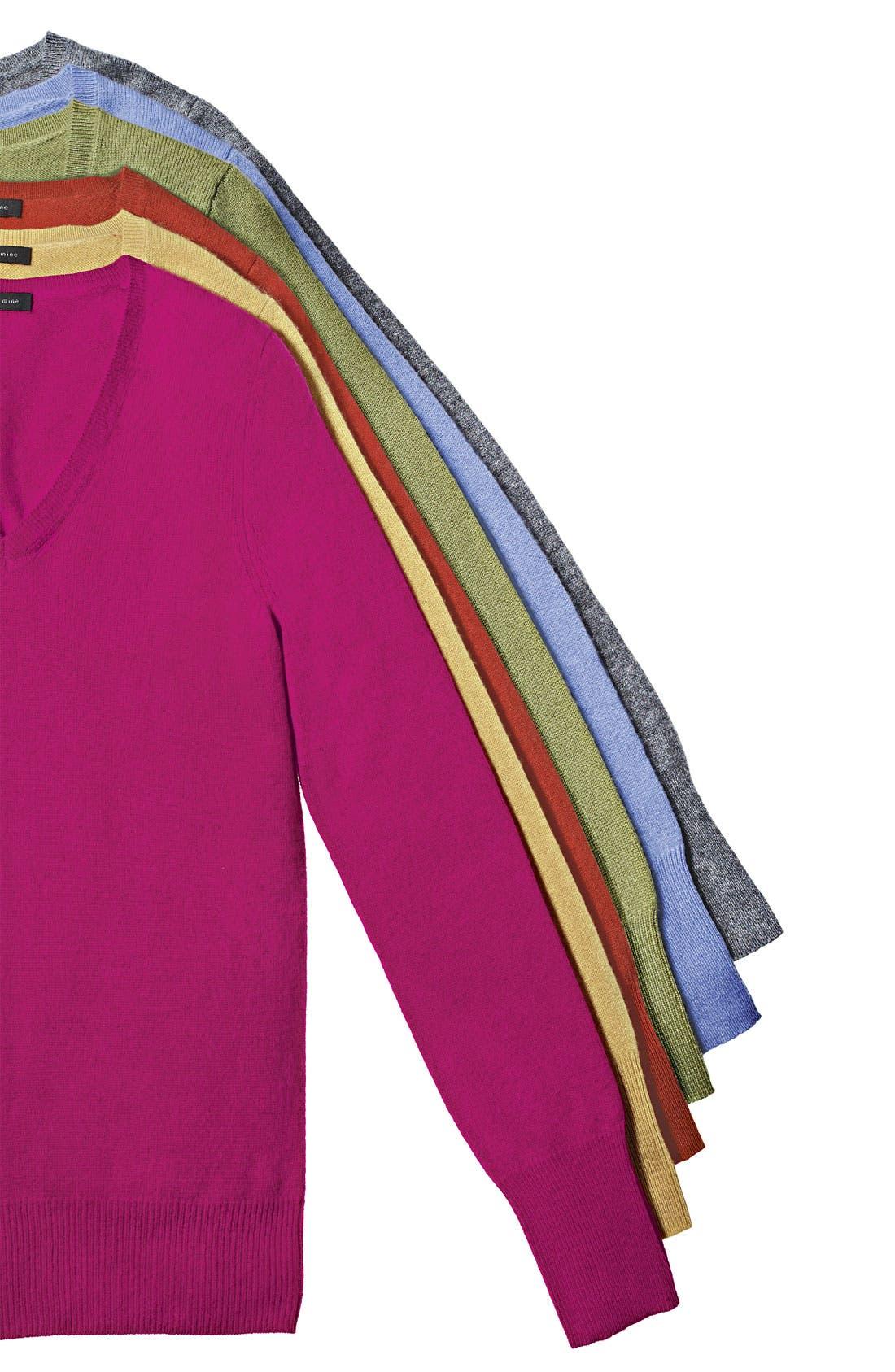 ONLY MINE,                             V-Neck Cashmere Sweater,                             Alternate thumbnail 2, color,                             336