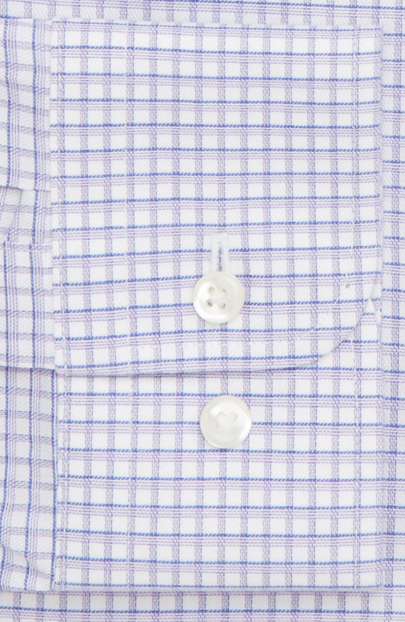 Smartcare<sup>™</sup> Trim Fit Check Dress Shirt,                             Alternate thumbnail 17, color,