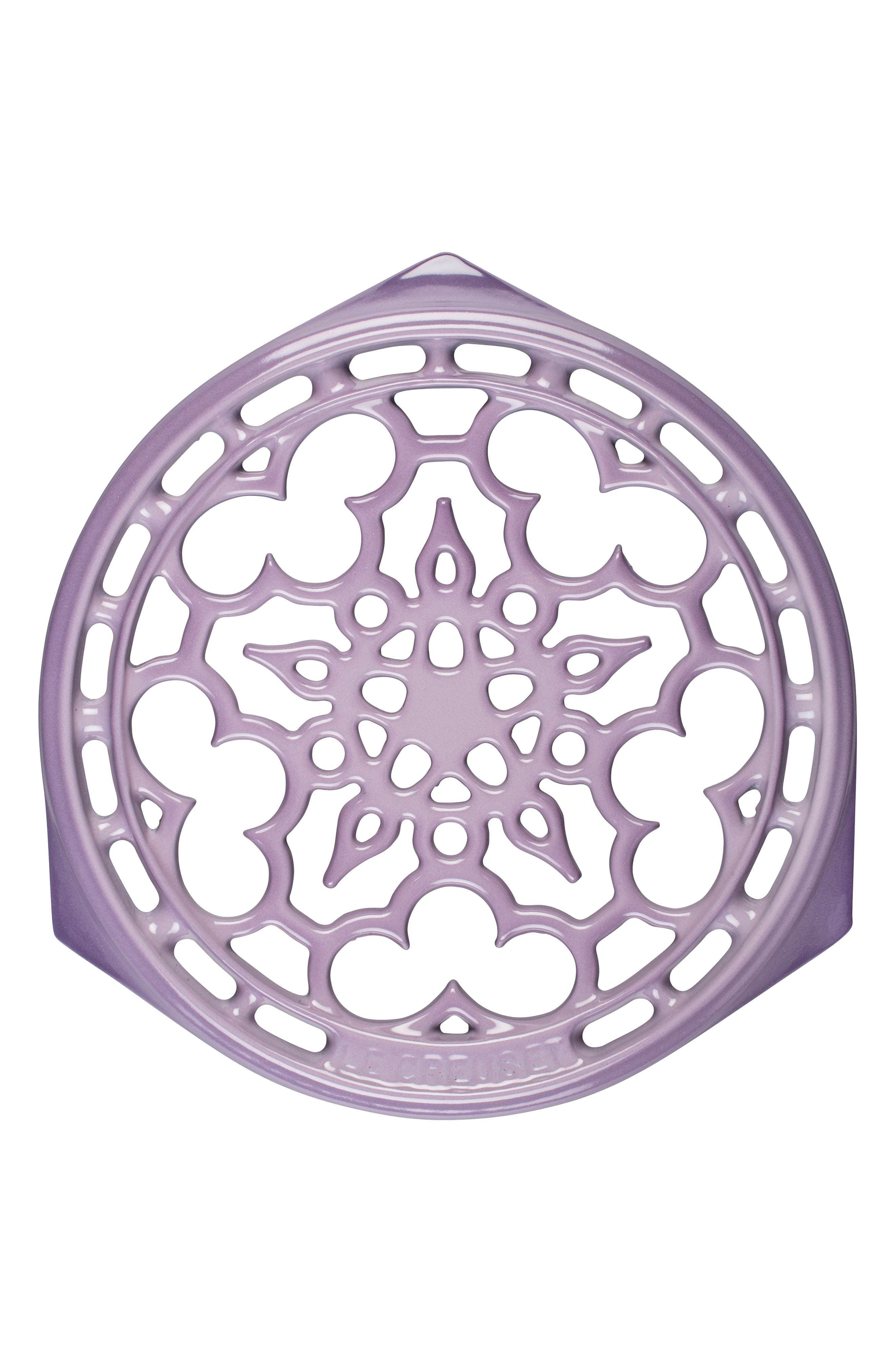 Deluxe Round Enamel Cast Iron Trivet,                             Main thumbnail 1, color,                             505