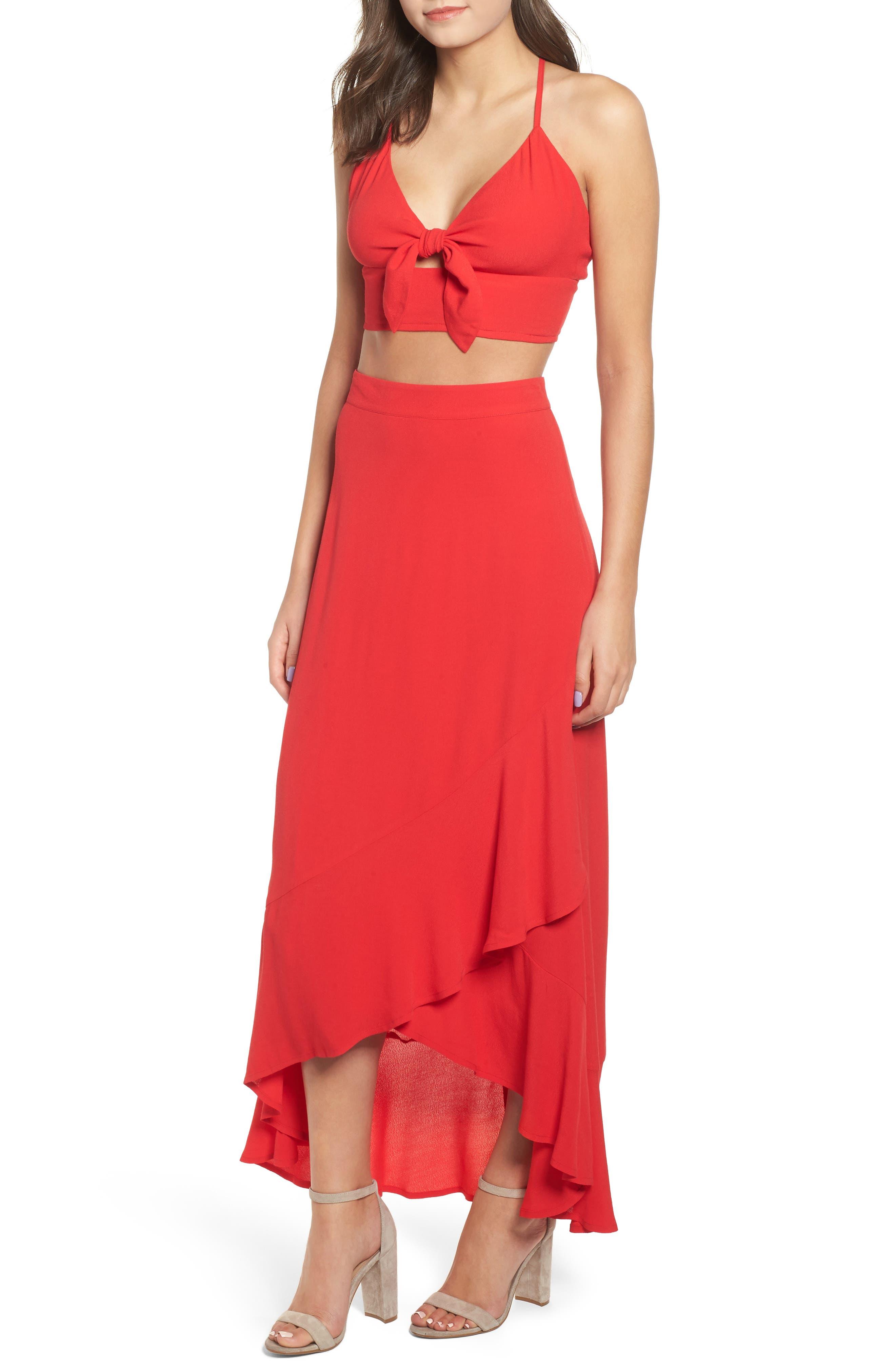 High Waist Tulip Skirt,                             Alternate thumbnail 6, color,                             610