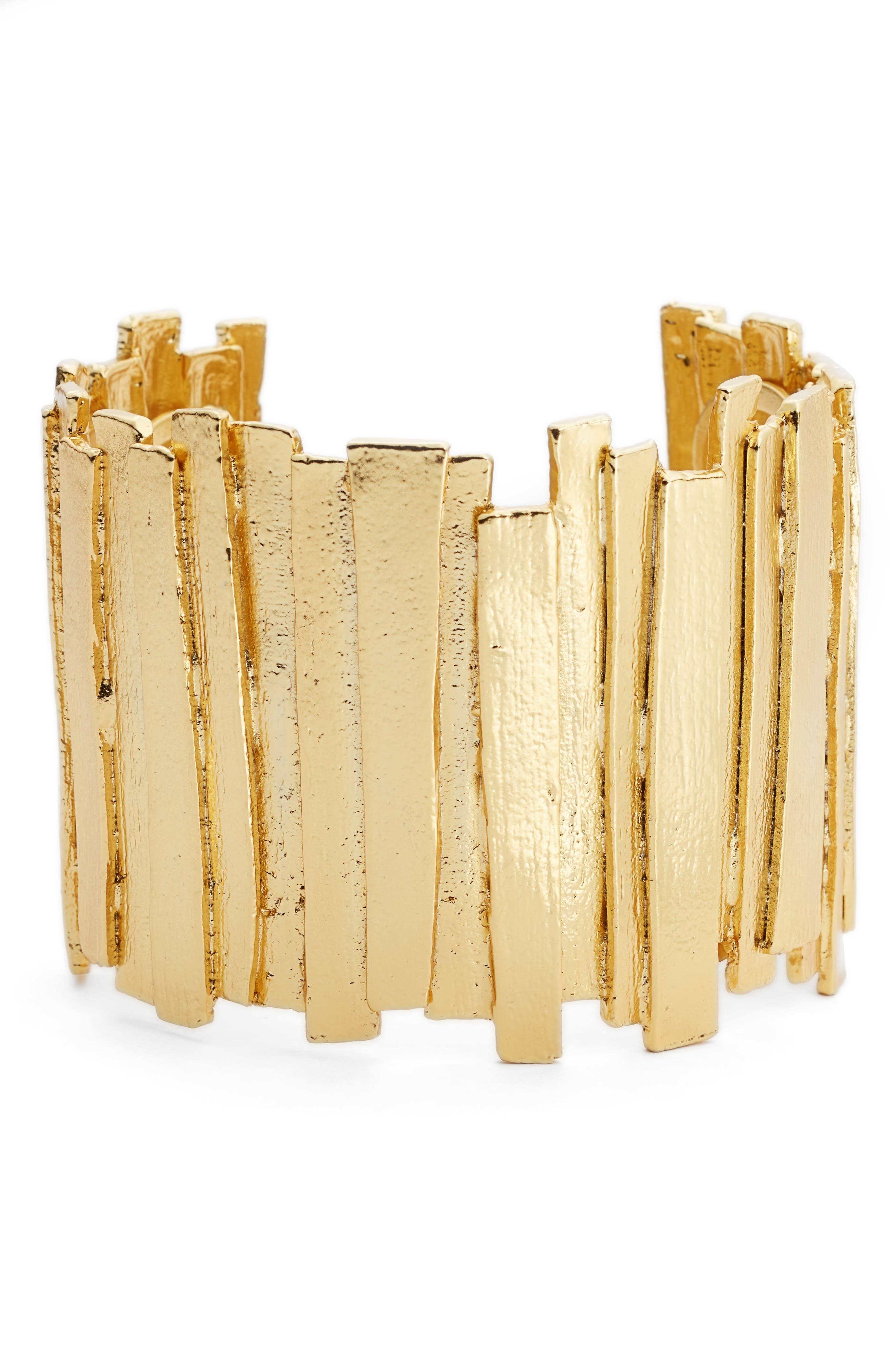 KARINE SULTAN,                             Sculptural Cuff,                             Main thumbnail 1, color,                             GOLD