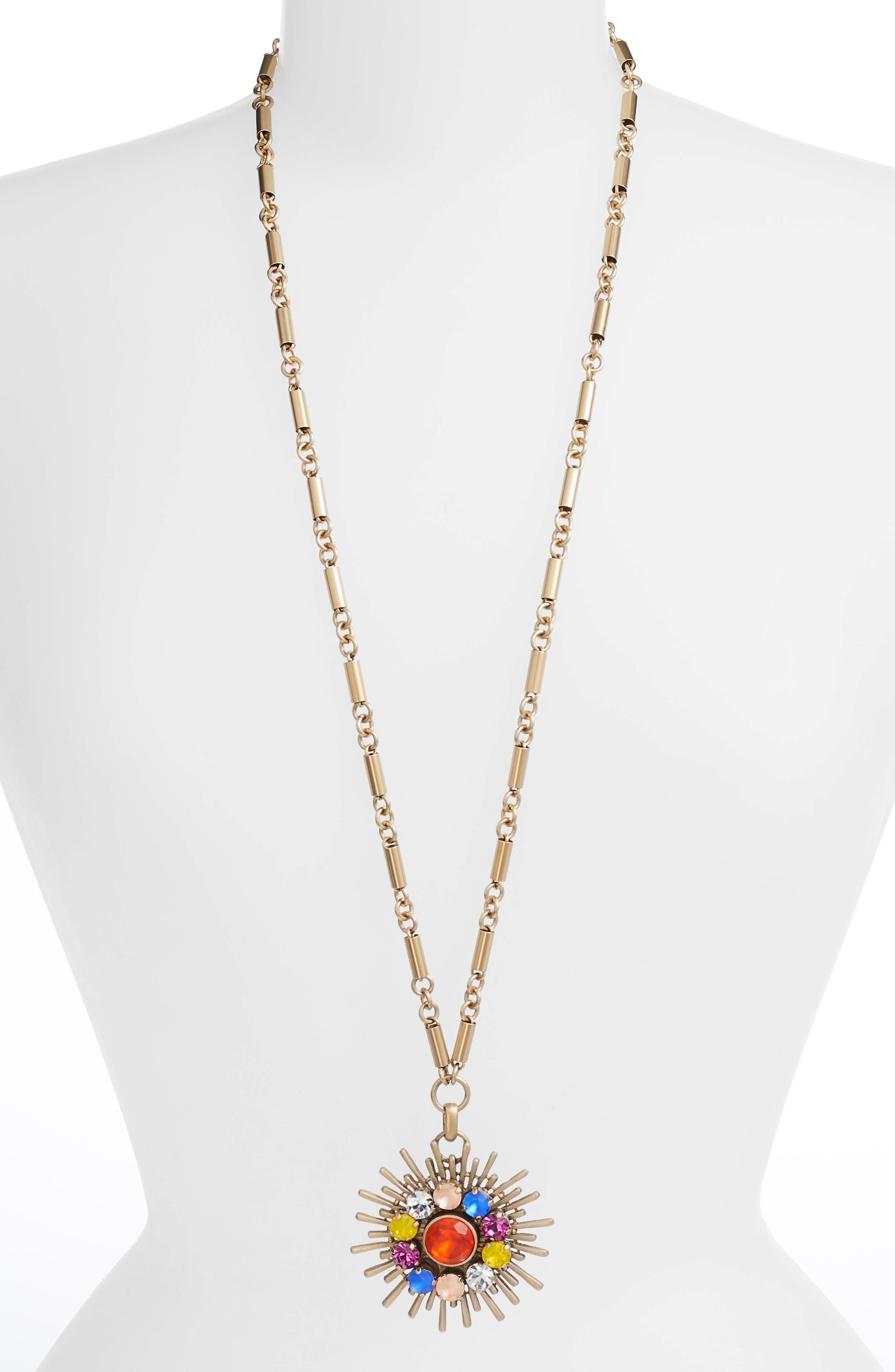 Quinn Pendant Necklace,                         Main,                         color, 710
