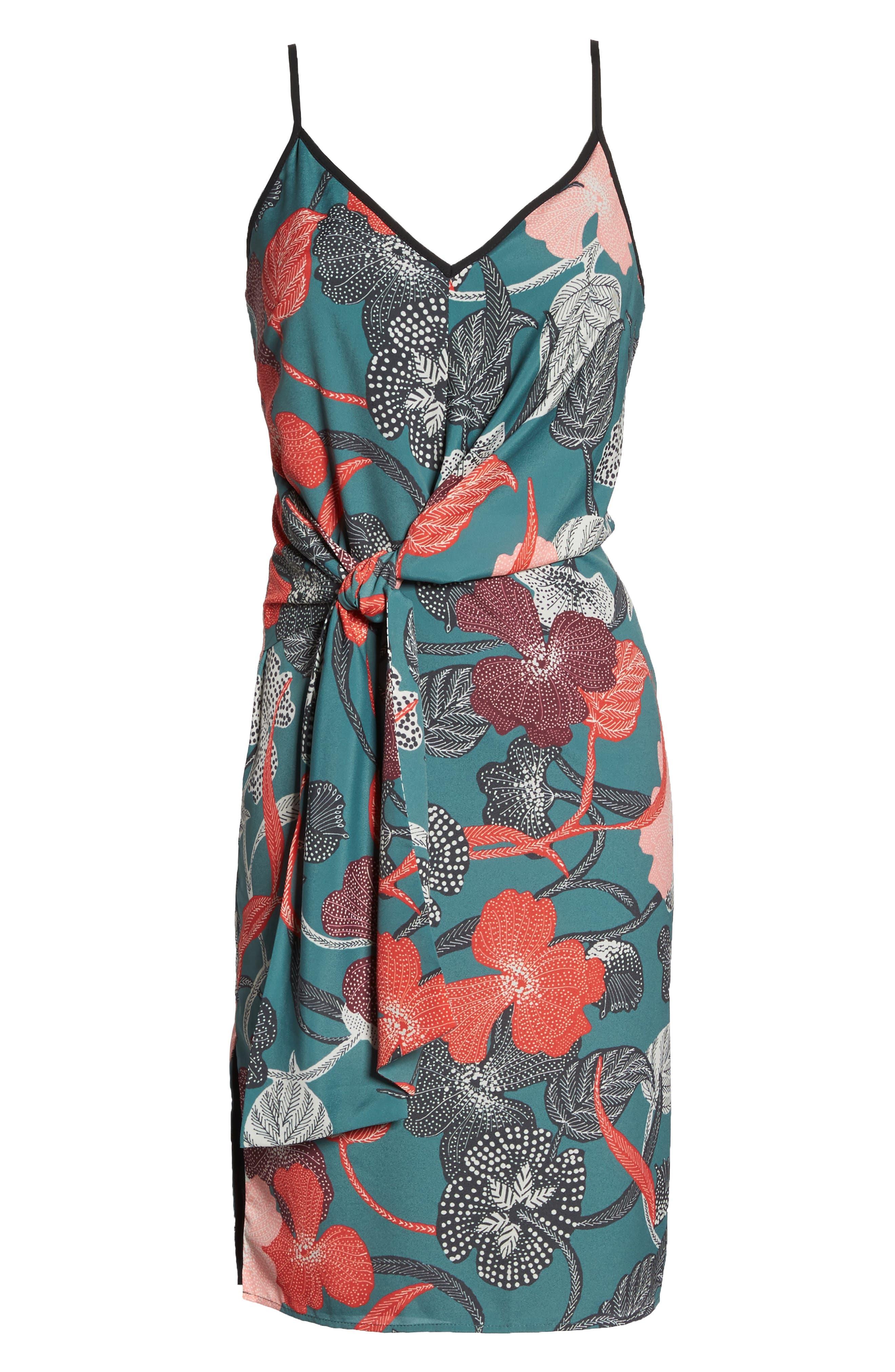 Gwen Tie Slipdress,                             Alternate thumbnail 6, color,                             340