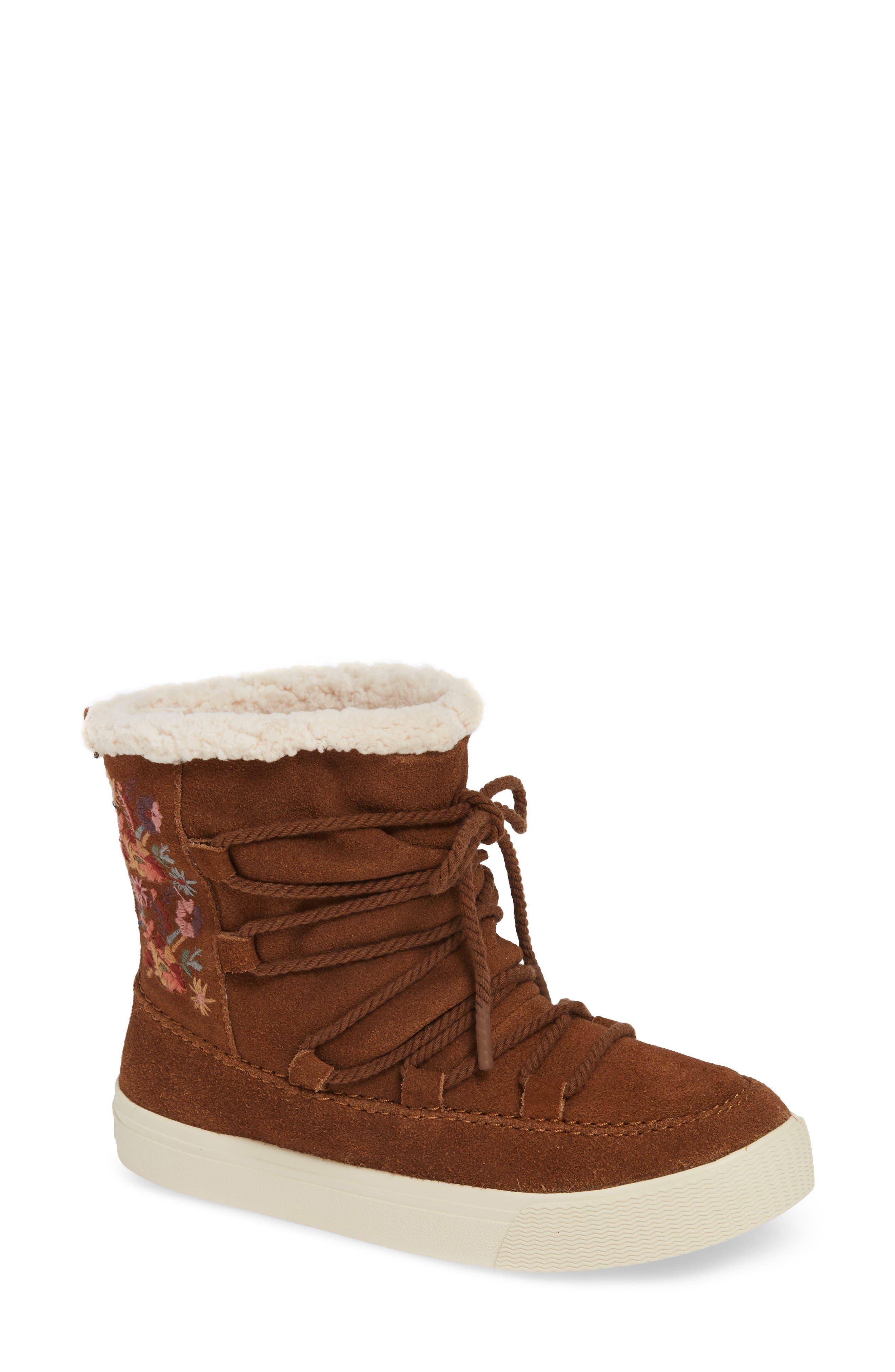 Toms Alpine Faux Fur Lined Bootie, Brown