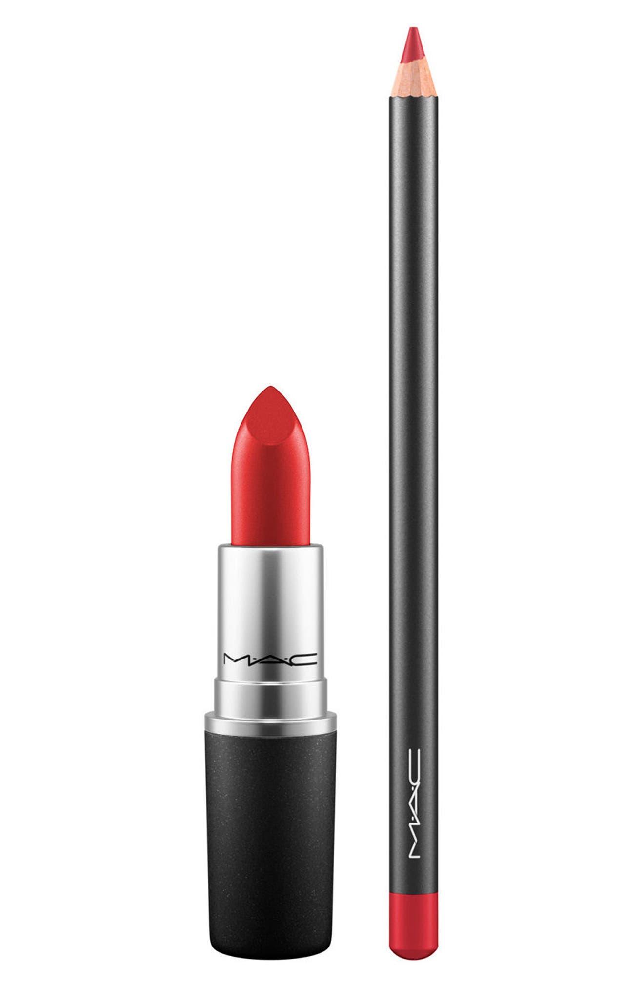 MAC Lip Duo,                         Main,                         color, COCKNEY / CHERRY