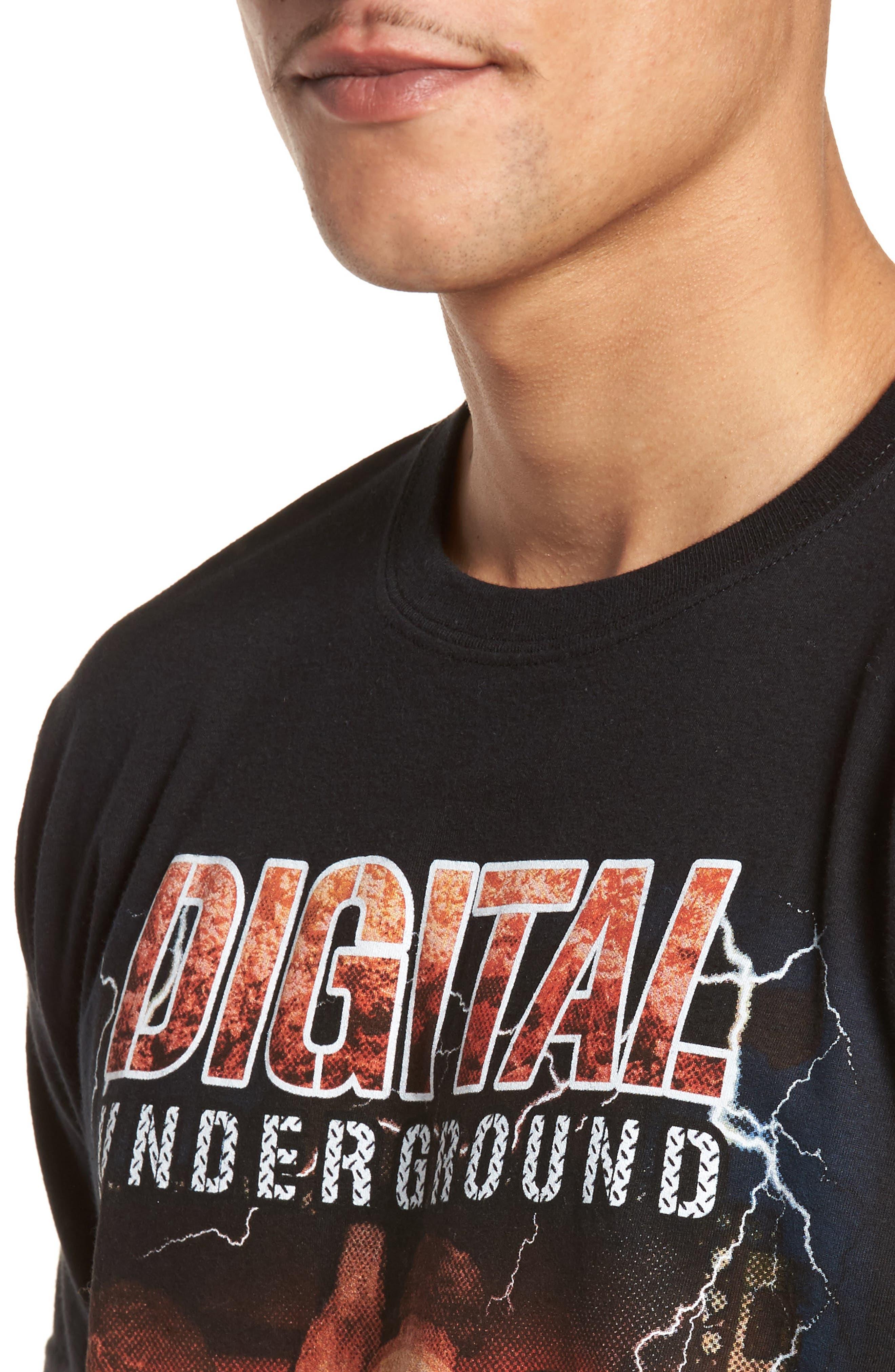 Digital Underground Graphic T-Shirt,                             Alternate thumbnail 4, color,                             001