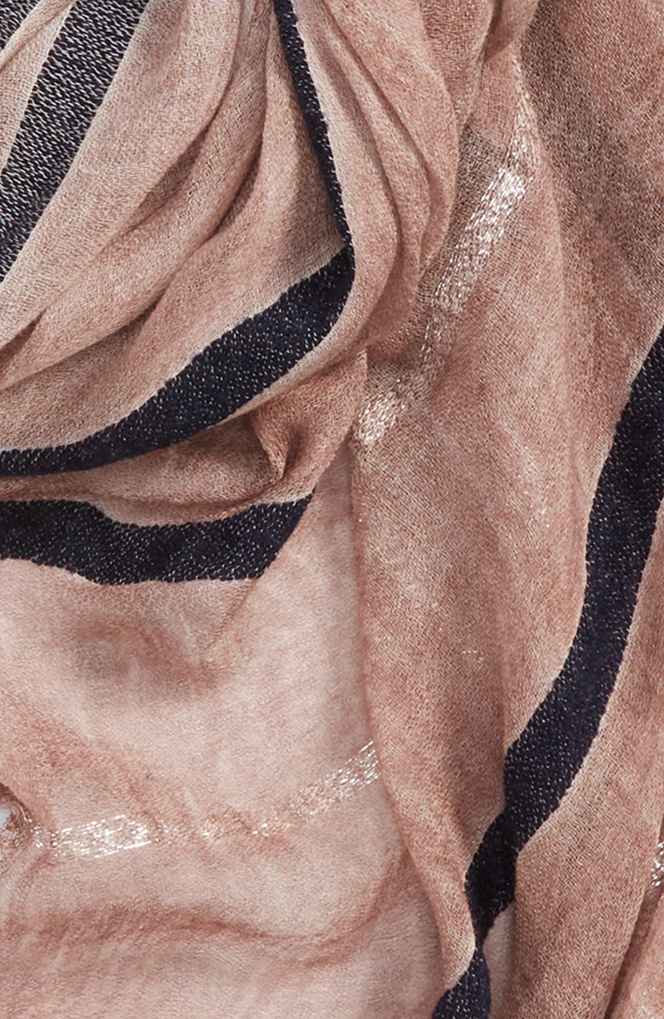 Lightweight Stripe Scarf,                             Alternate thumbnail 3, color,                             BLUSH