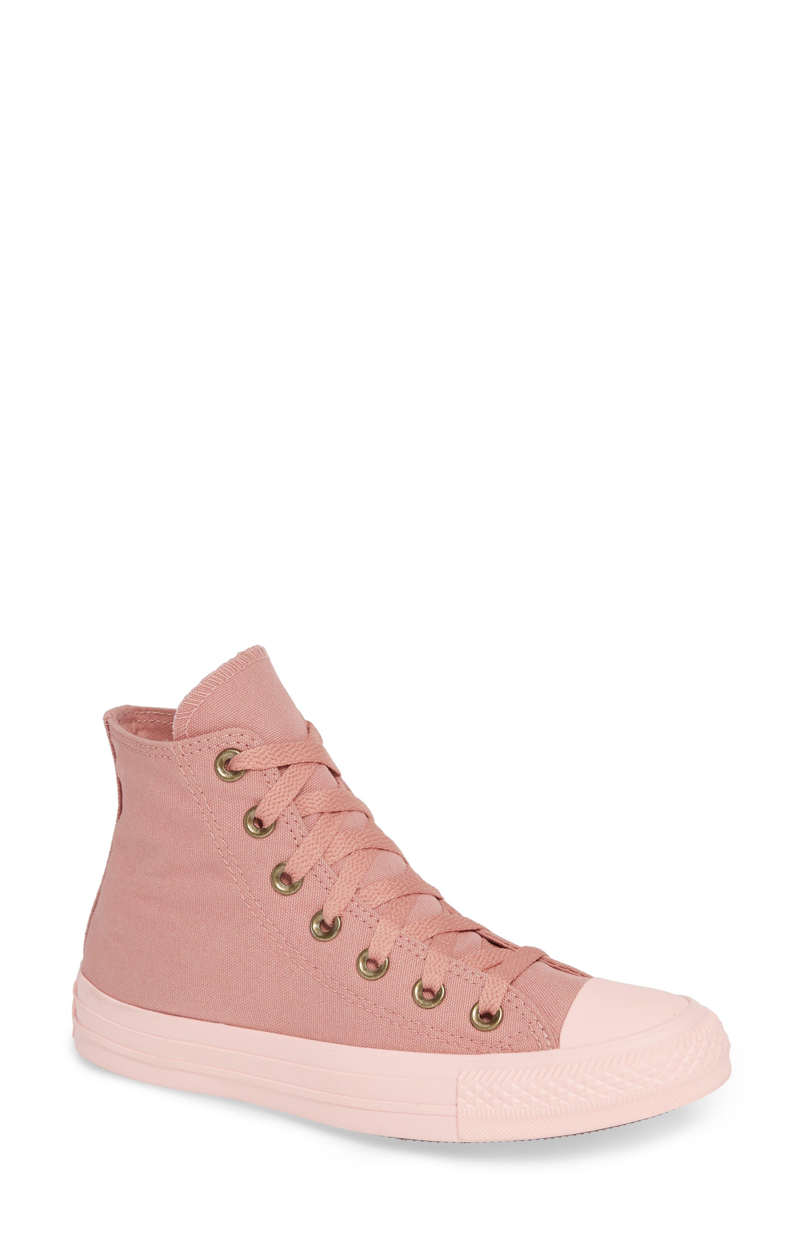 Chuck Taylor<sup>®</sup> All Star<sup>®</sup> Botanical High Top Sneaker,                             Main thumbnail 1, color,                             RUST PINK