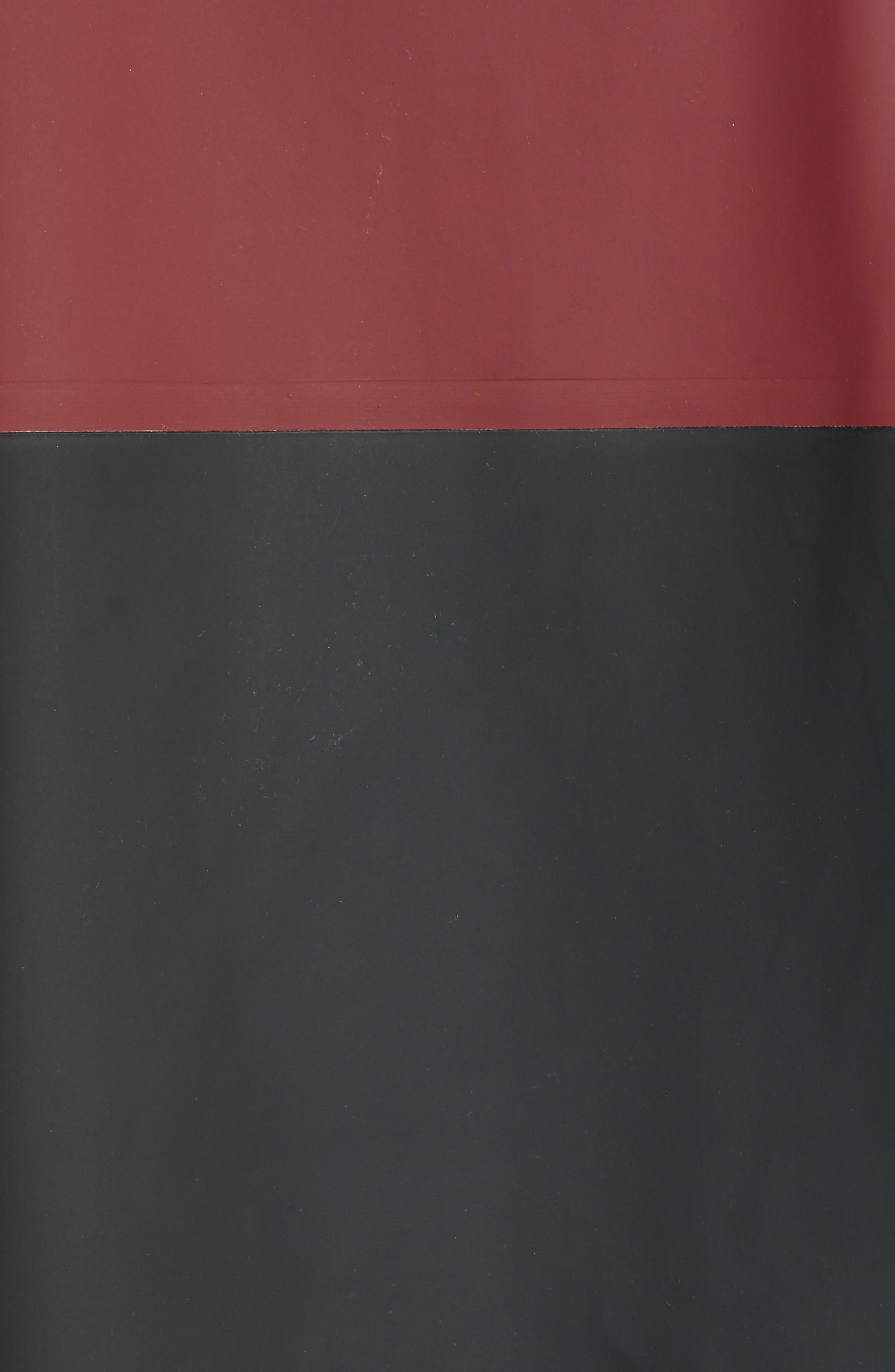 Stockholm Colorblock Waterproof Hooded Raincoat,                             Alternate thumbnail 7, color,                             BURGUNDY/ BLACK