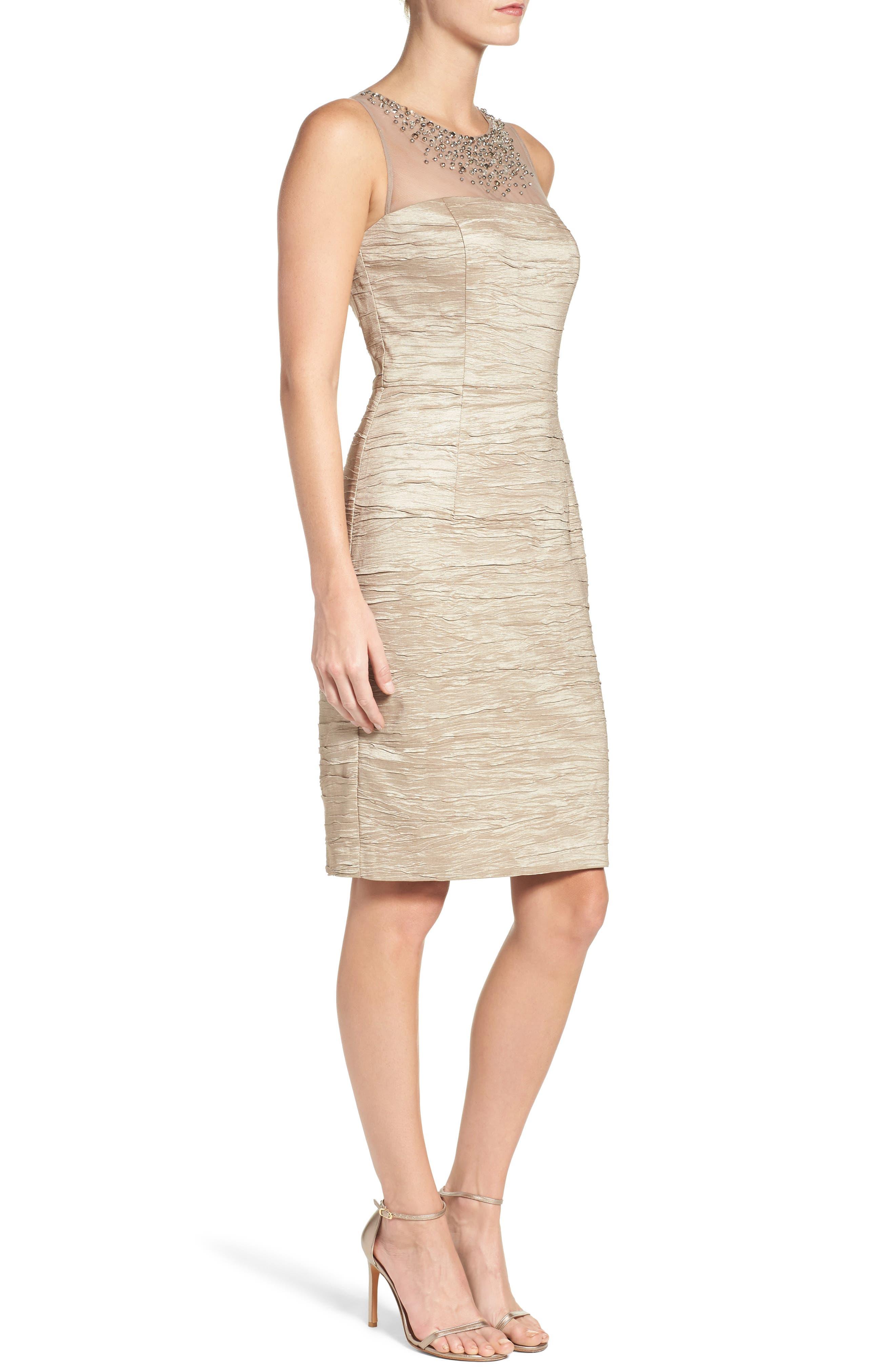 Metallic Sheath Dress,                             Alternate thumbnail 5, color,
