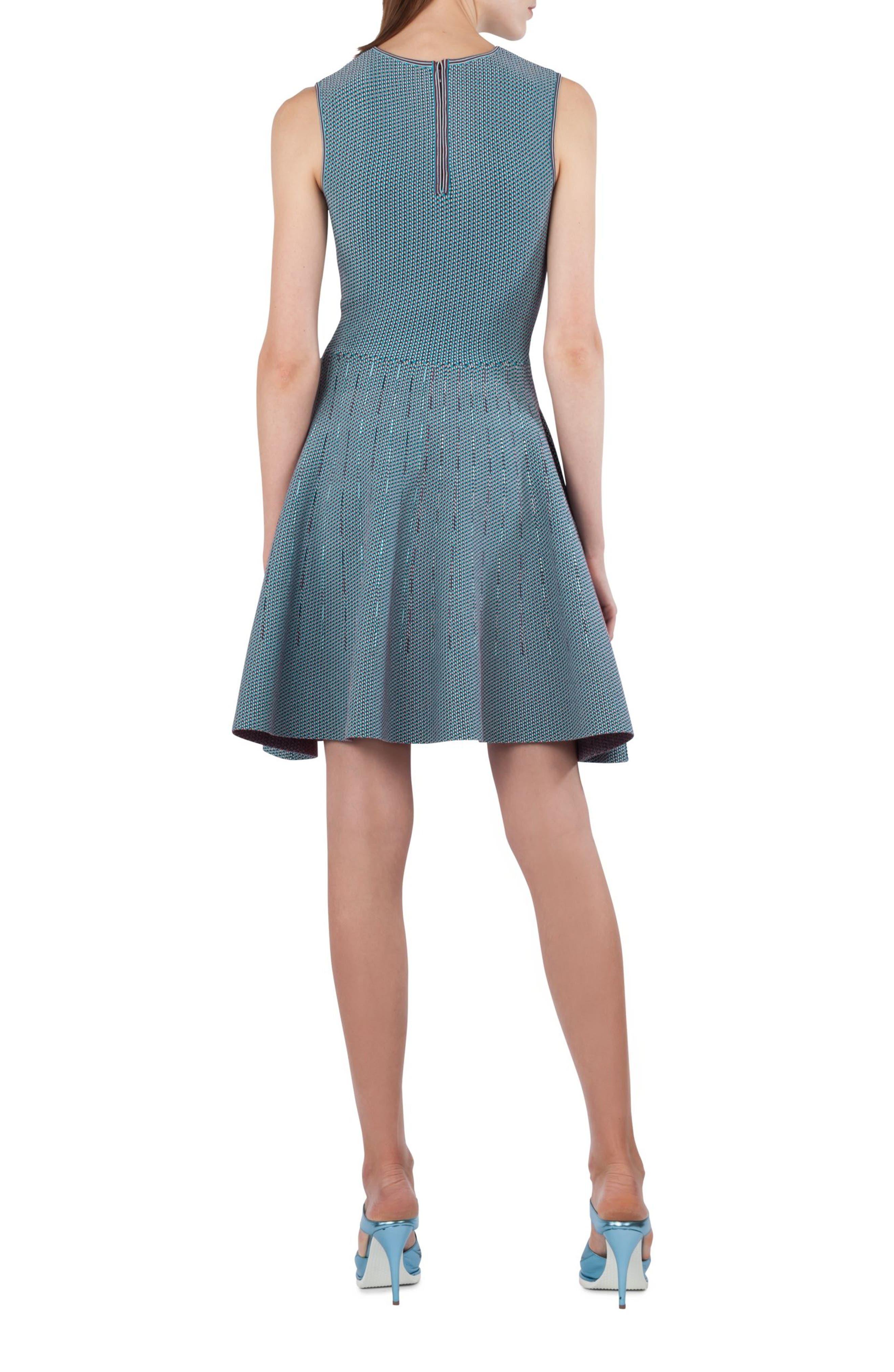 Fantasy Jacquard Knit Dress,                             Alternate thumbnail 2, color,                             471