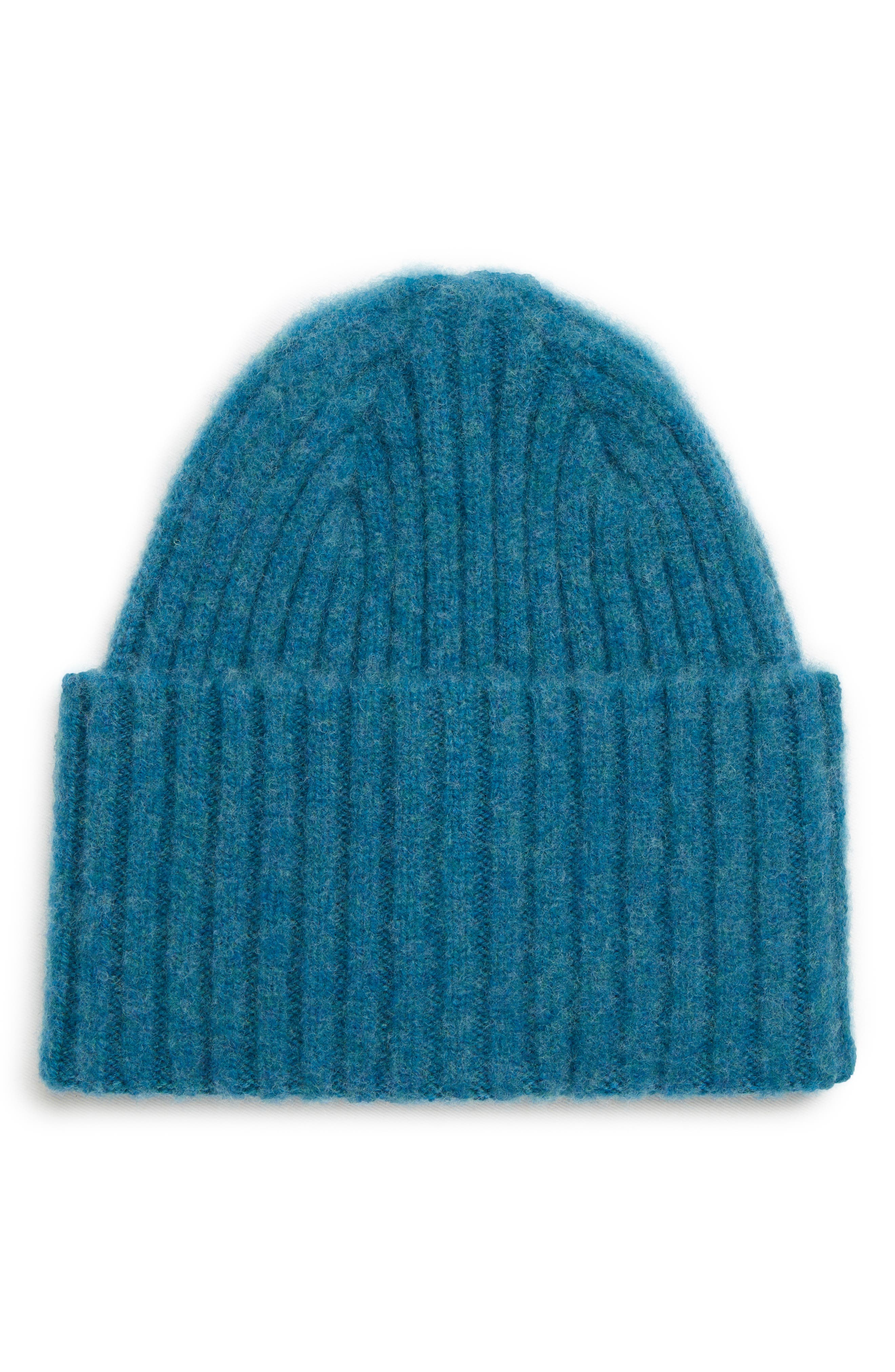 Drakes Brushed Wool Beanie,                         Main,                         color, BLUE