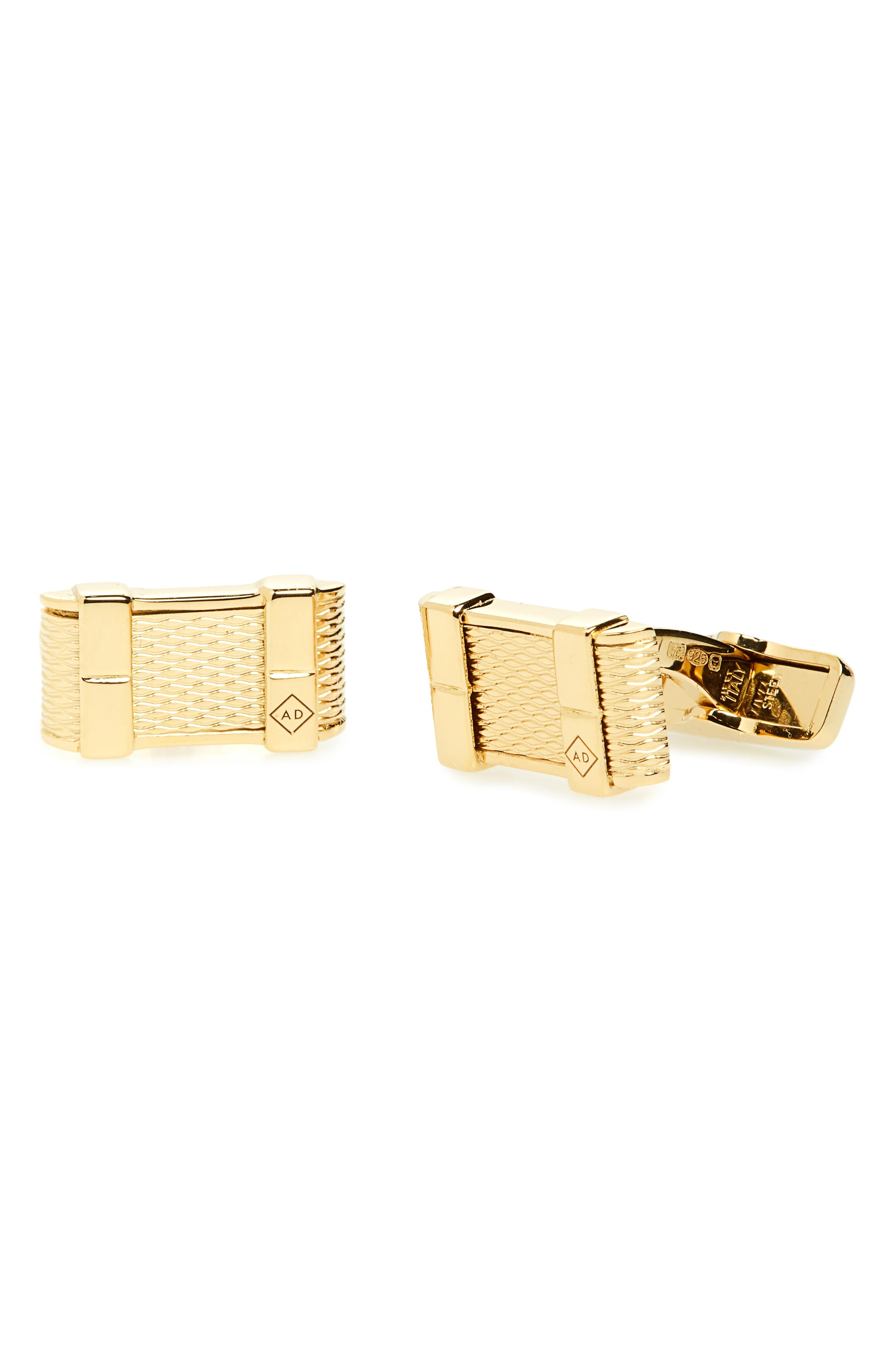 DUNHILL Et Thread Cuff Links in Gold