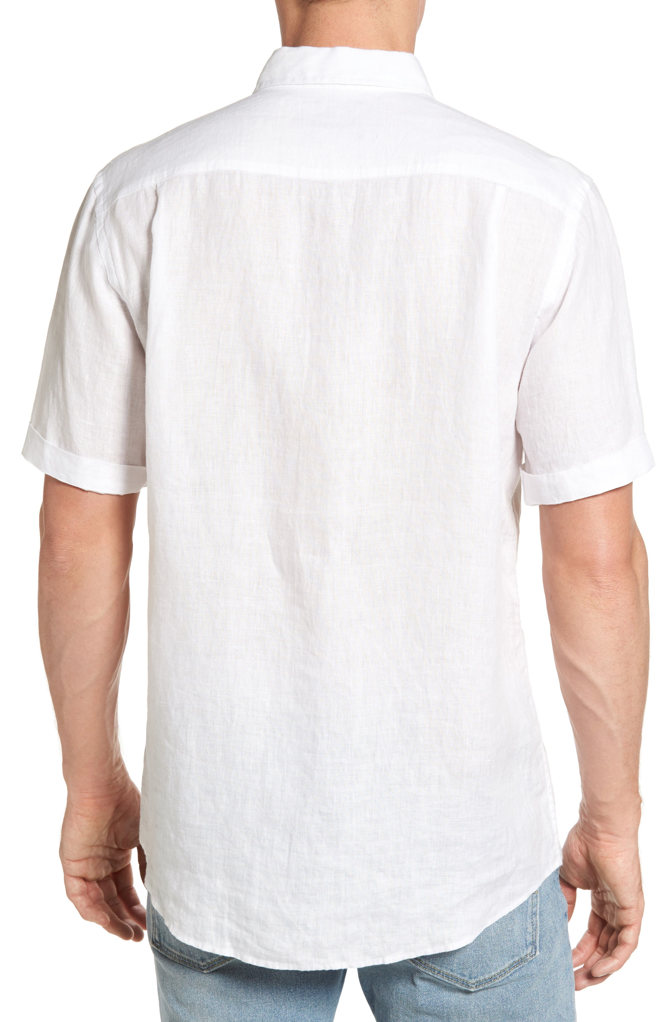 Abbotleight Linen Sport Shirt,                             Alternate thumbnail 2, color,                             SNOW