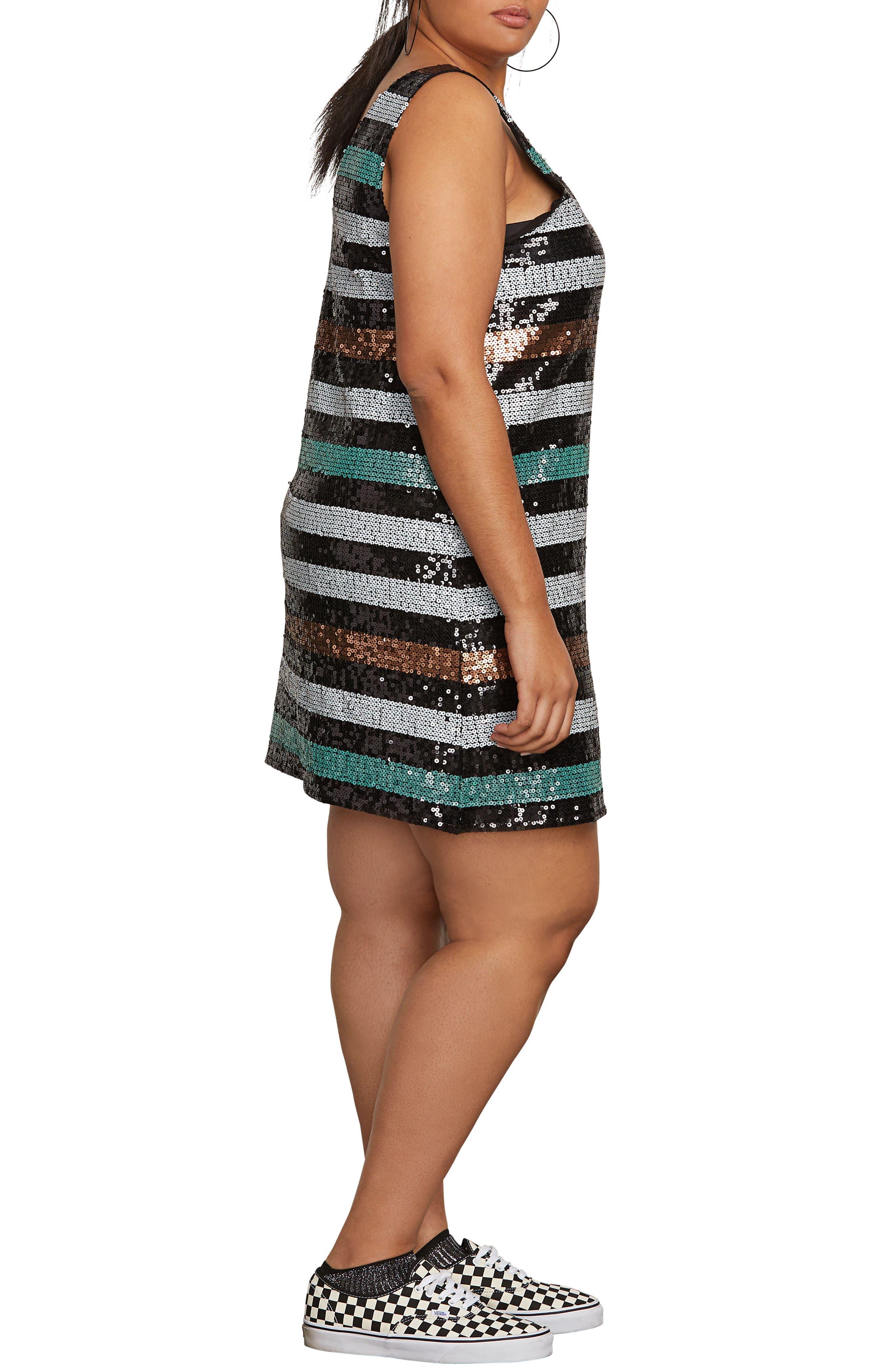 Seek Whence Sequin Dress,                             Alternate thumbnail 3, color,                             MULTI