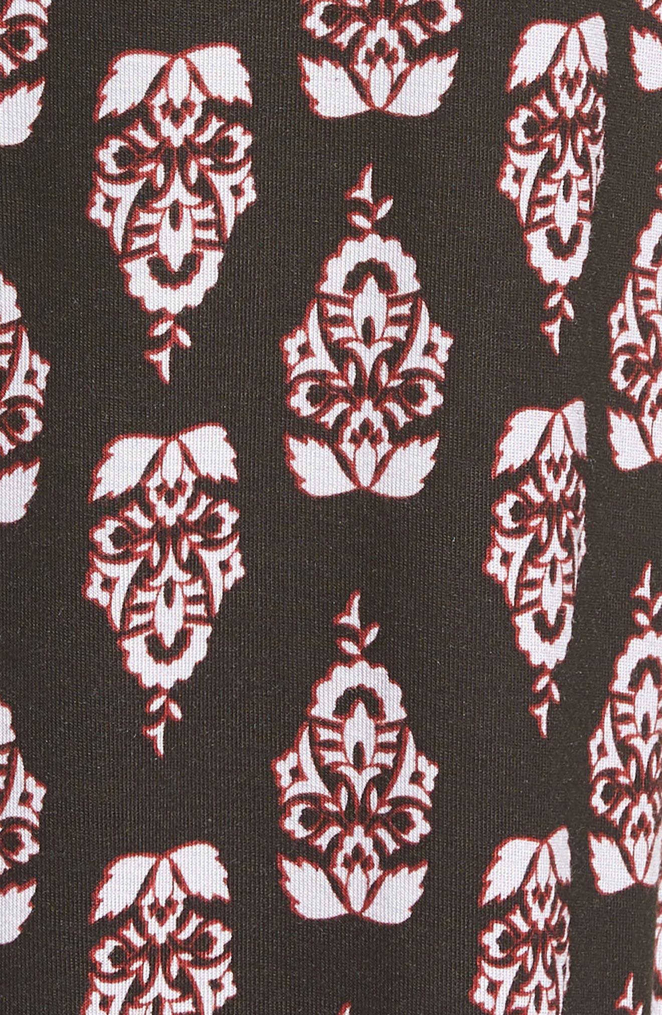 Print Knit Palazzo Pants,                             Alternate thumbnail 6, color,                             001