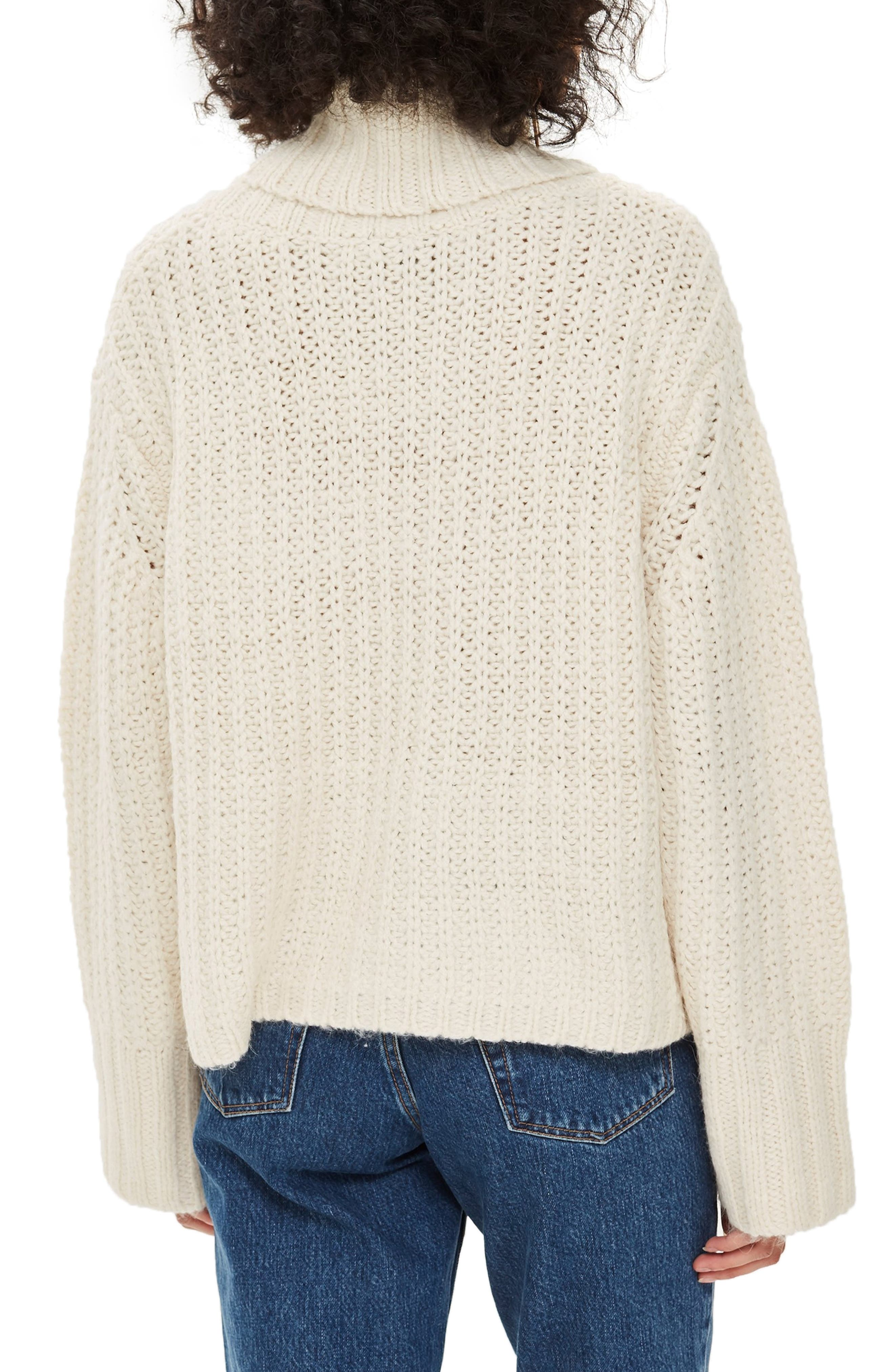 Chunky Roll Sweater,                             Alternate thumbnail 2, color,                             900