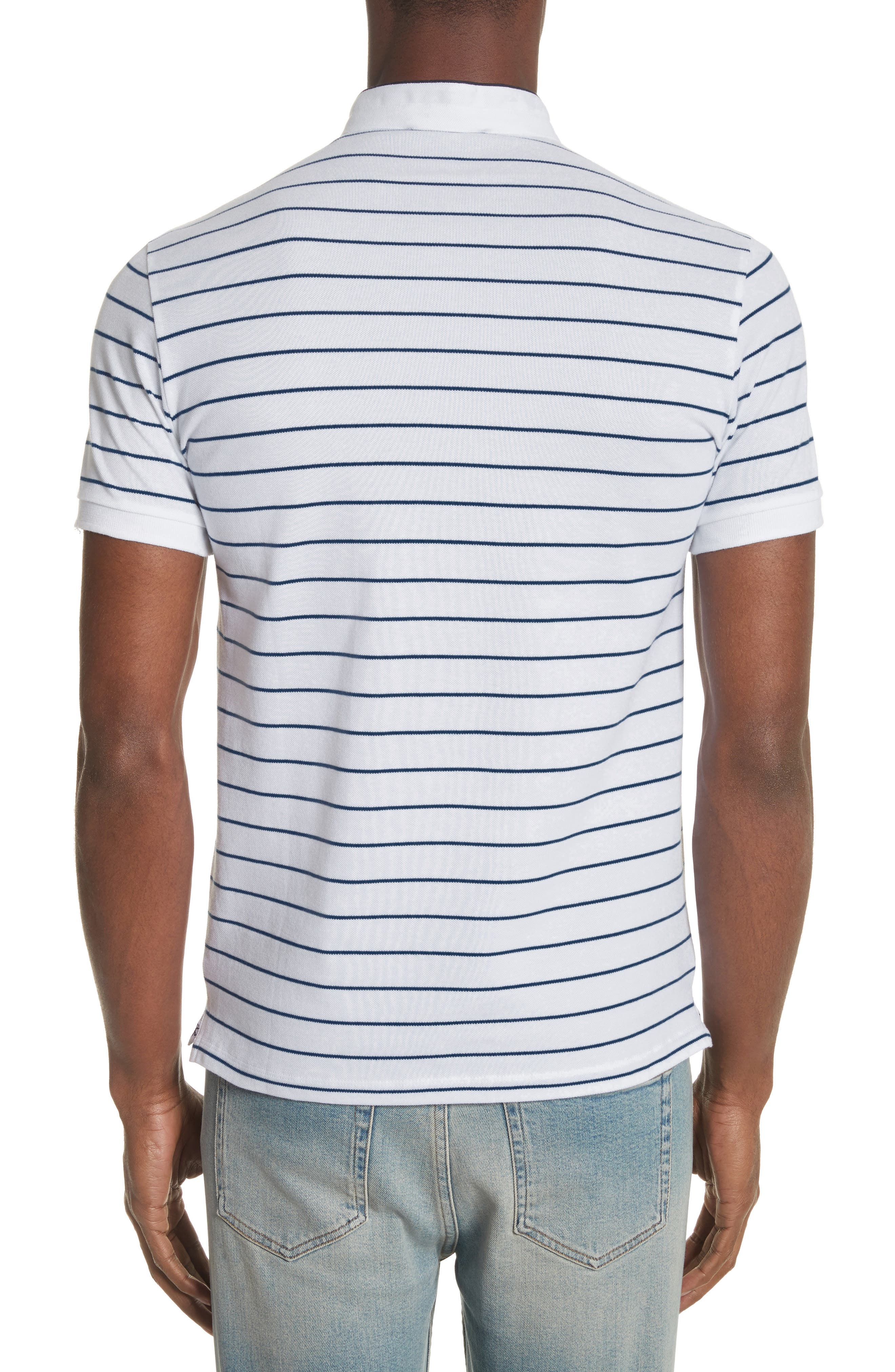 Stripe Officer Polo Shirt,                             Alternate thumbnail 2, color,                             100
