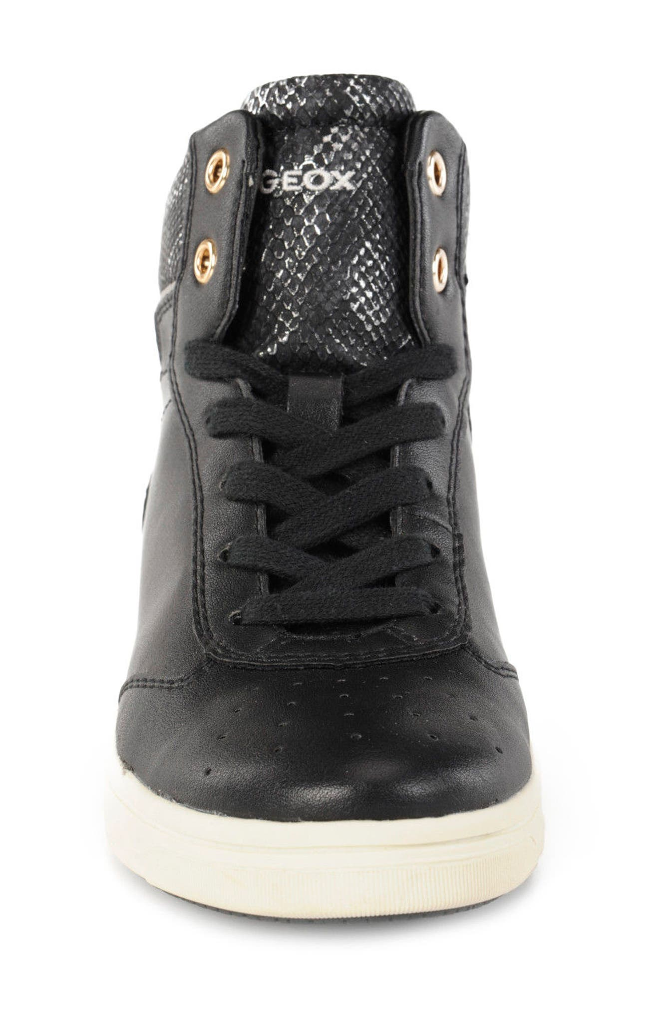 Cave Up Girl High Top Sneaker,                             Alternate thumbnail 4, color,                             001