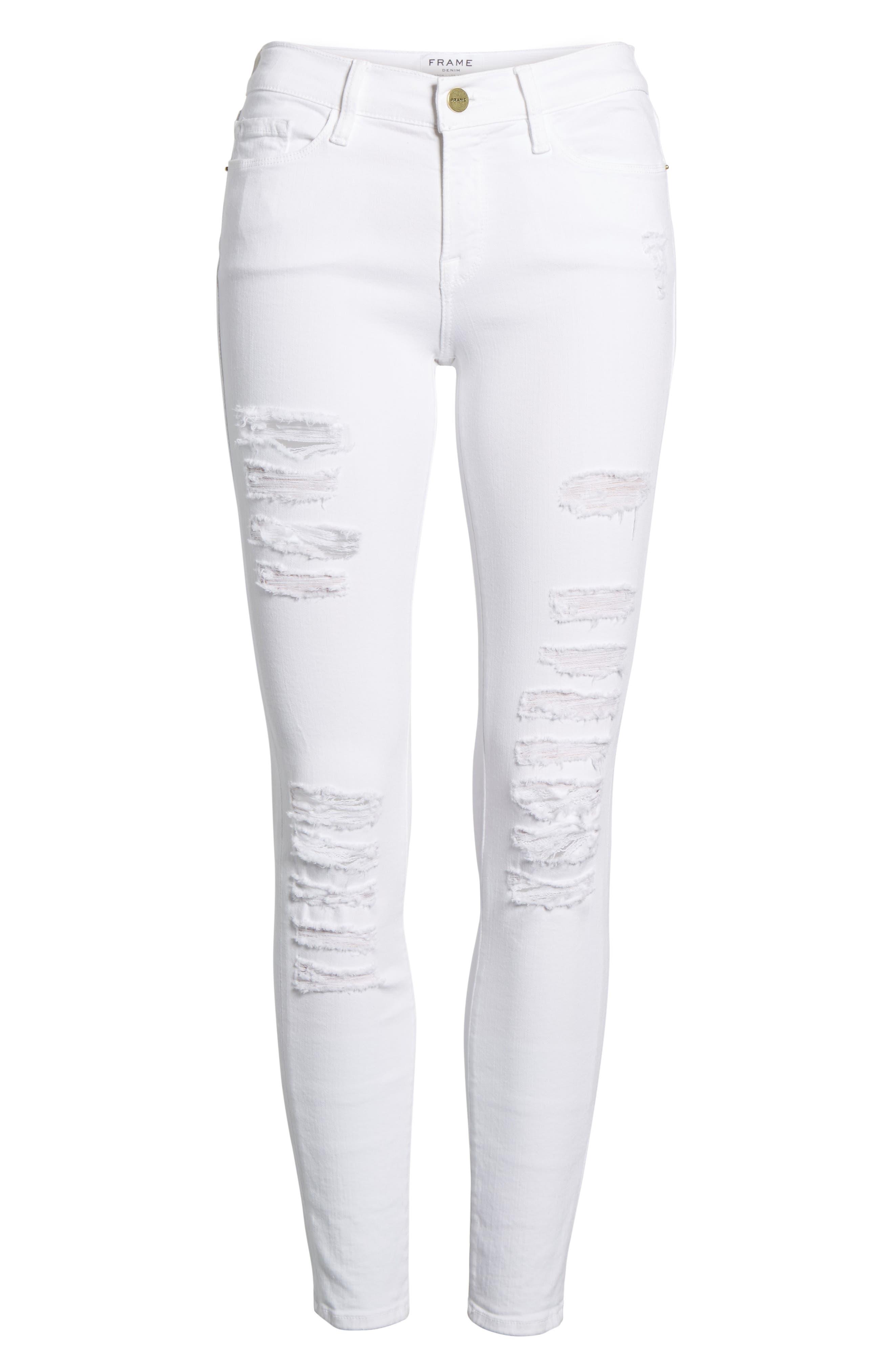 Le Color Rip Skinny Jeans,                             Alternate thumbnail 2, color,                             101