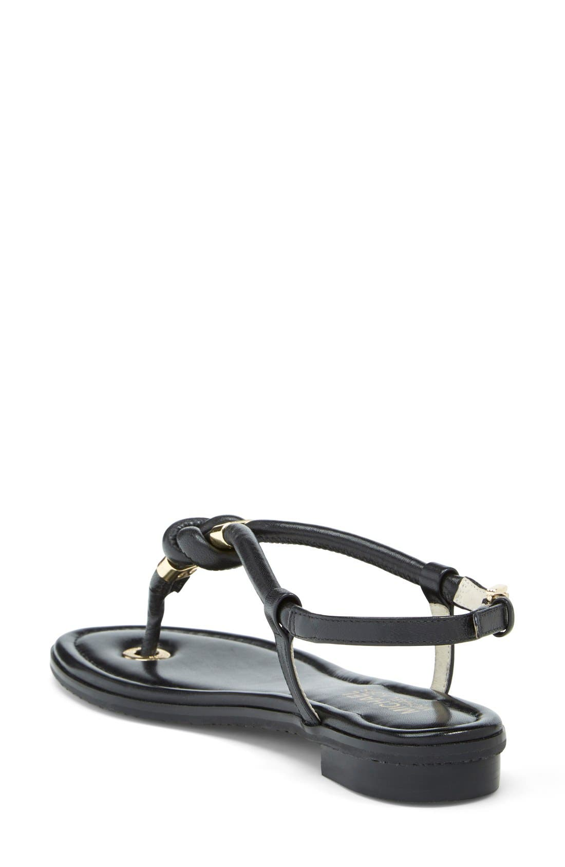 'Holly' Leather Thong Sandal,                             Alternate thumbnail 4, color,                             001