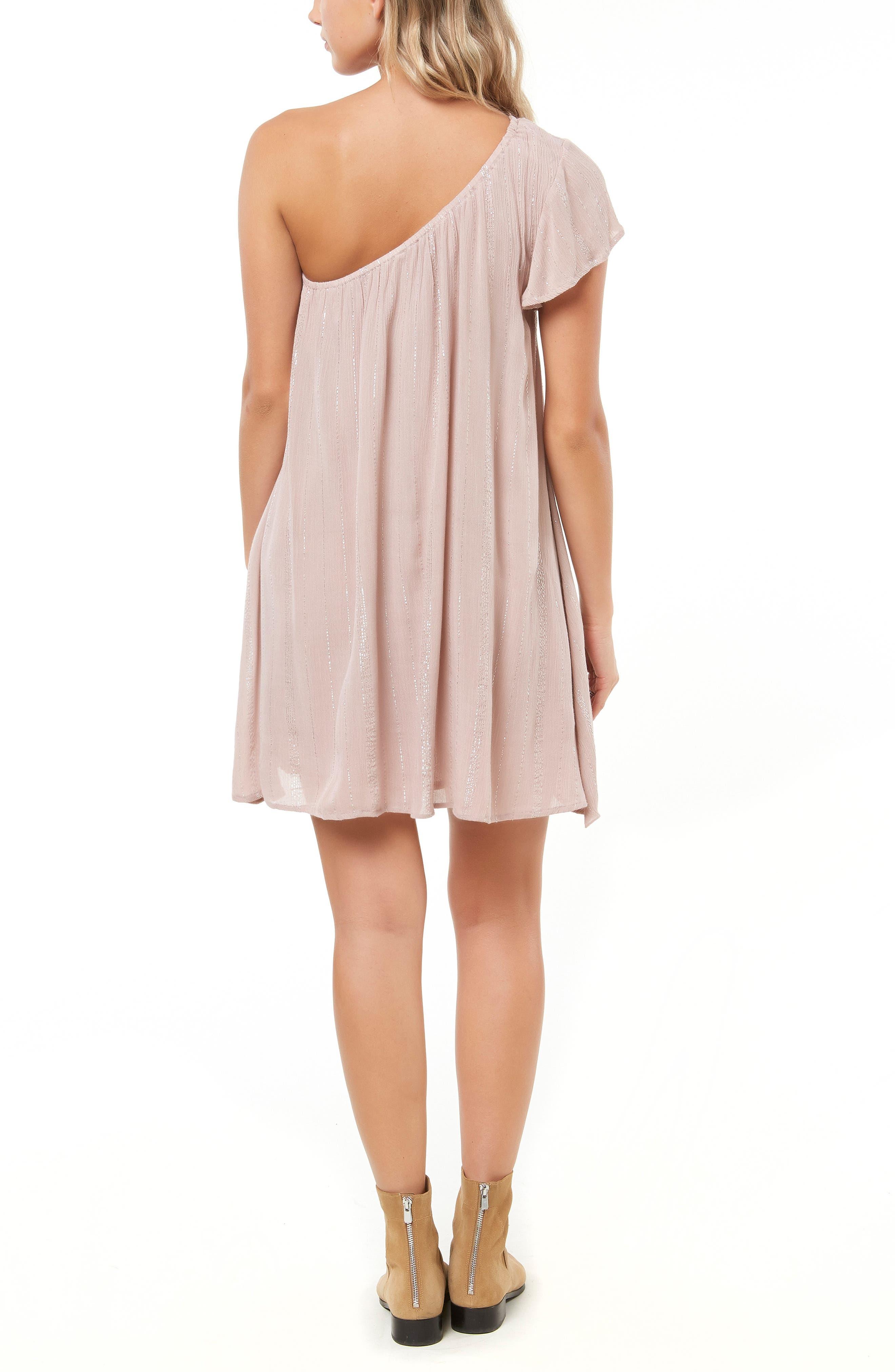 Karma One-Shoulder Dress,                             Alternate thumbnail 2, color,                             FAWN