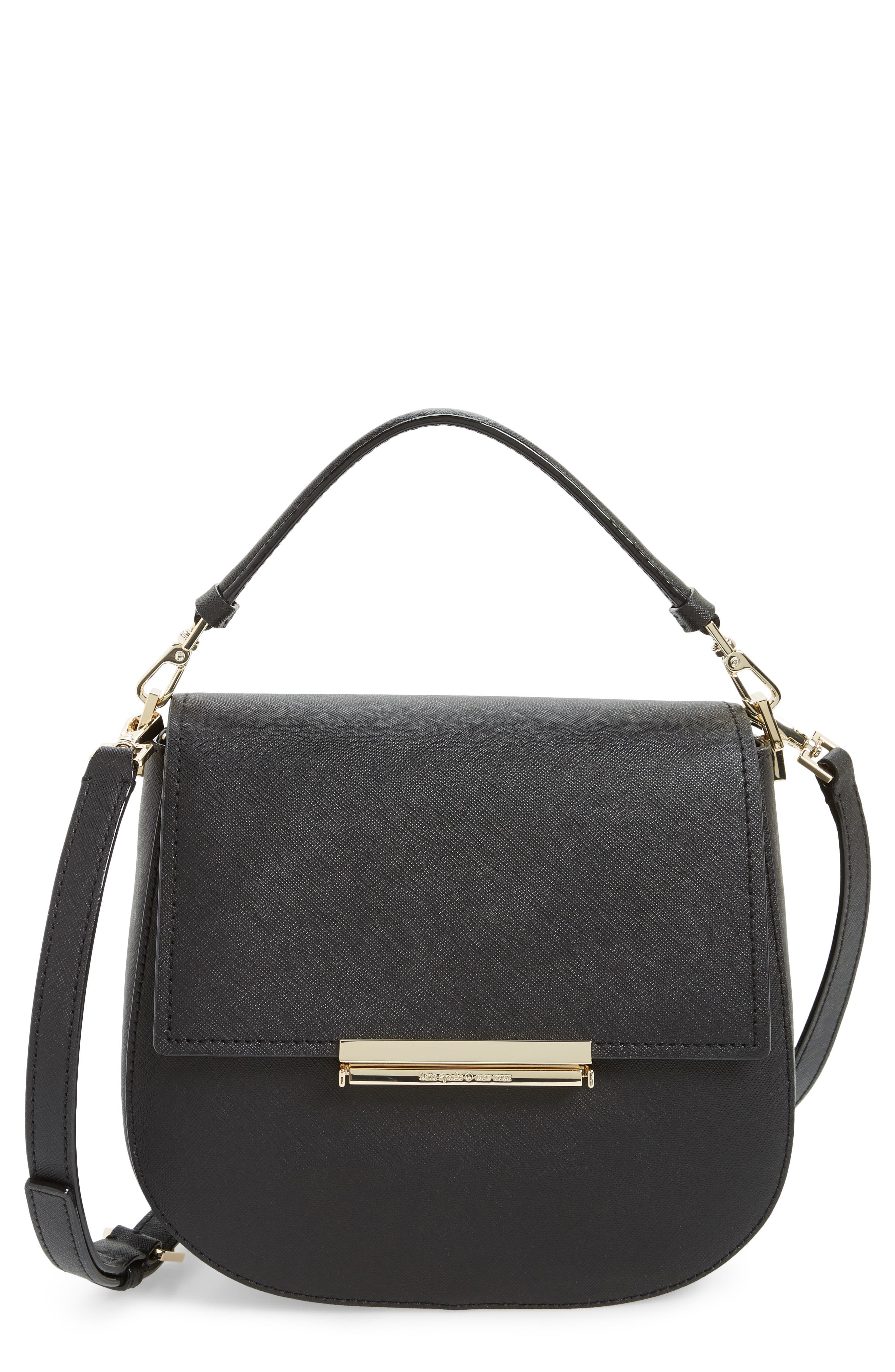 make it mine - byrdie leather saddle bag,                             Main thumbnail 1, color,                             001