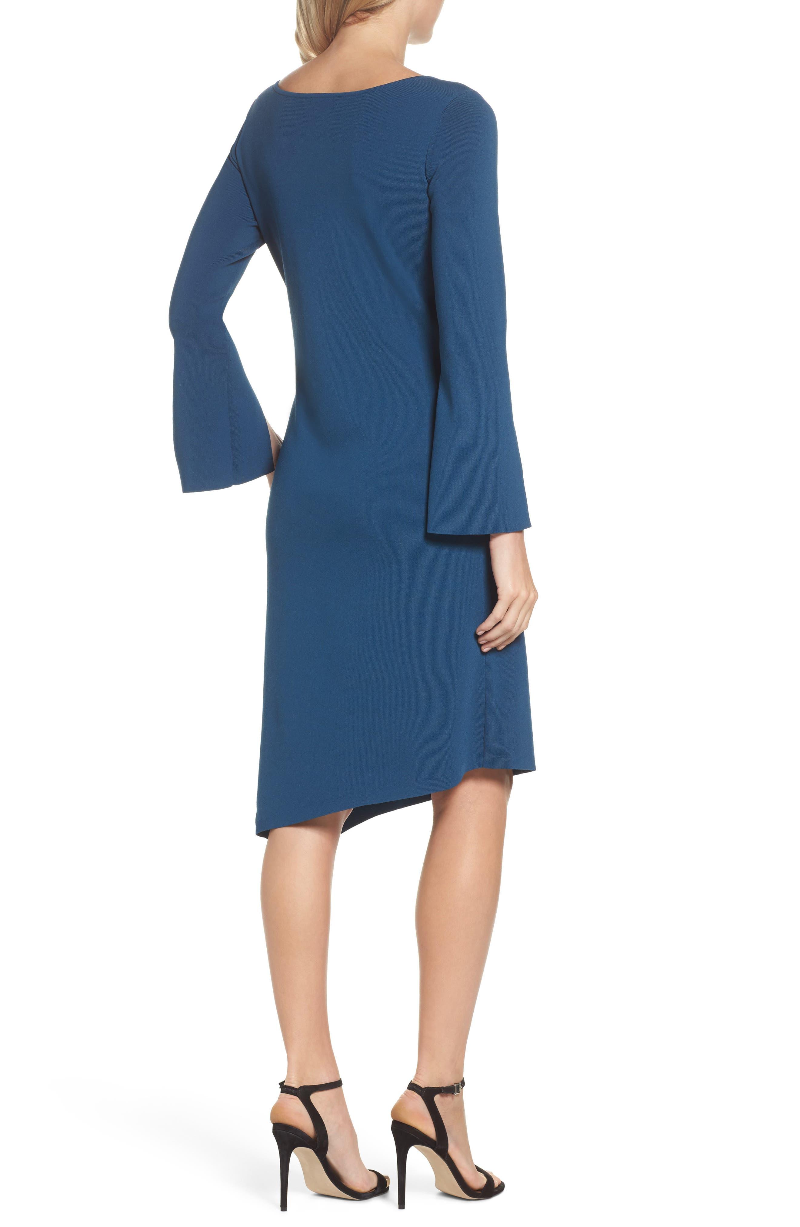 Studded Asymmetrical Dress,                             Alternate thumbnail 4, color,
