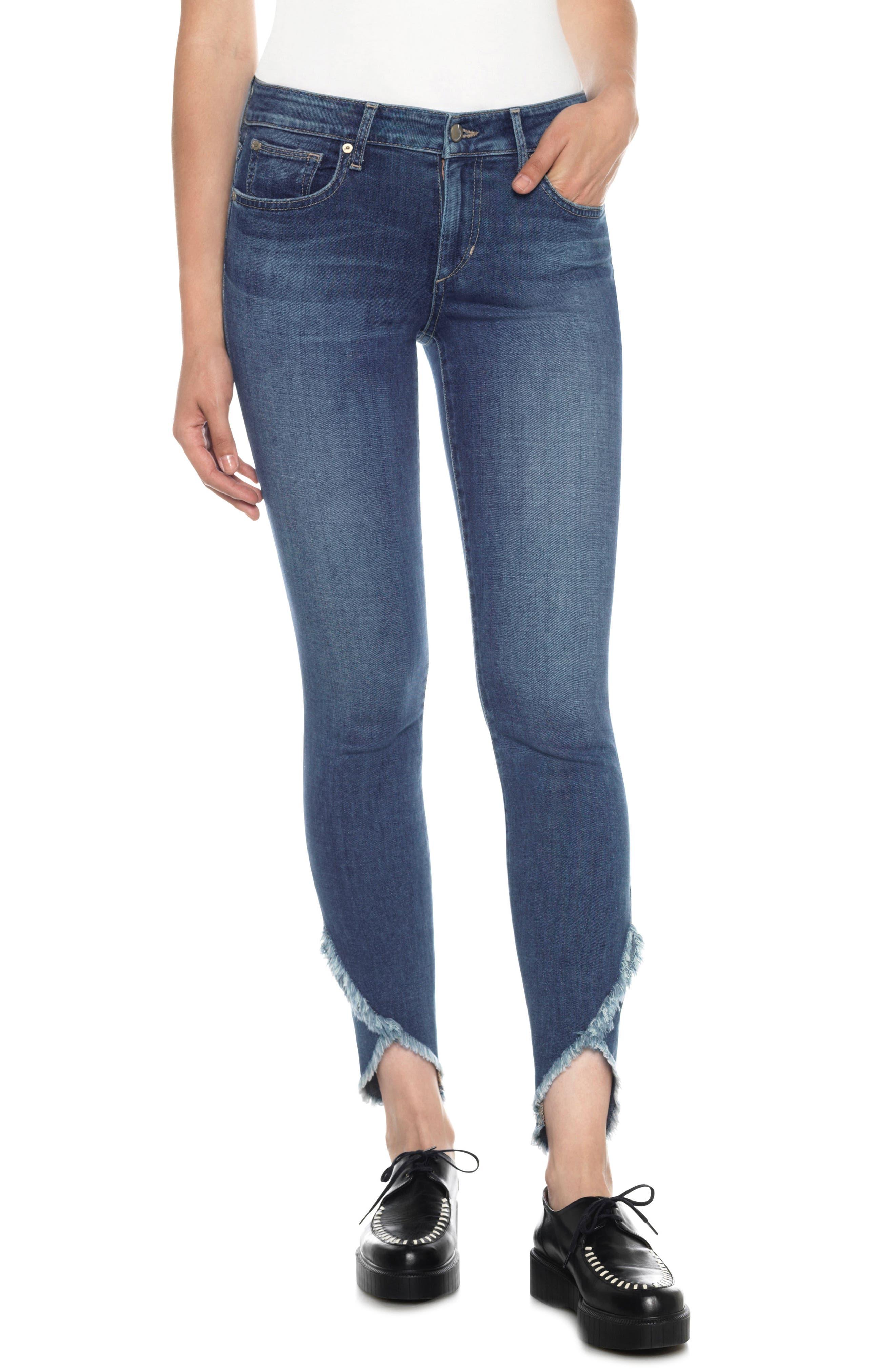 Icon Tulip Hem Skinny Jeans,                             Main thumbnail 1, color,                             411