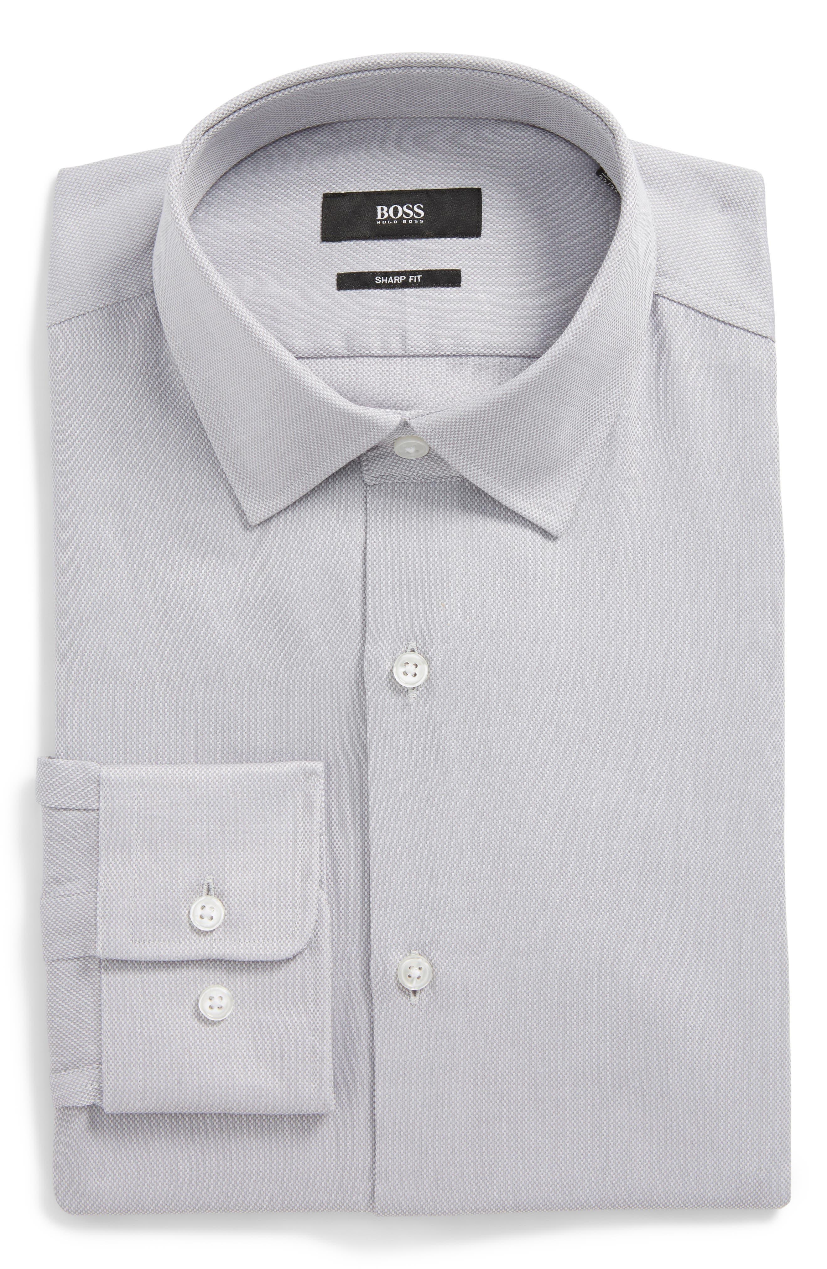 Marley Sharp Fit Dress Shirt,                         Main,                         color, 030