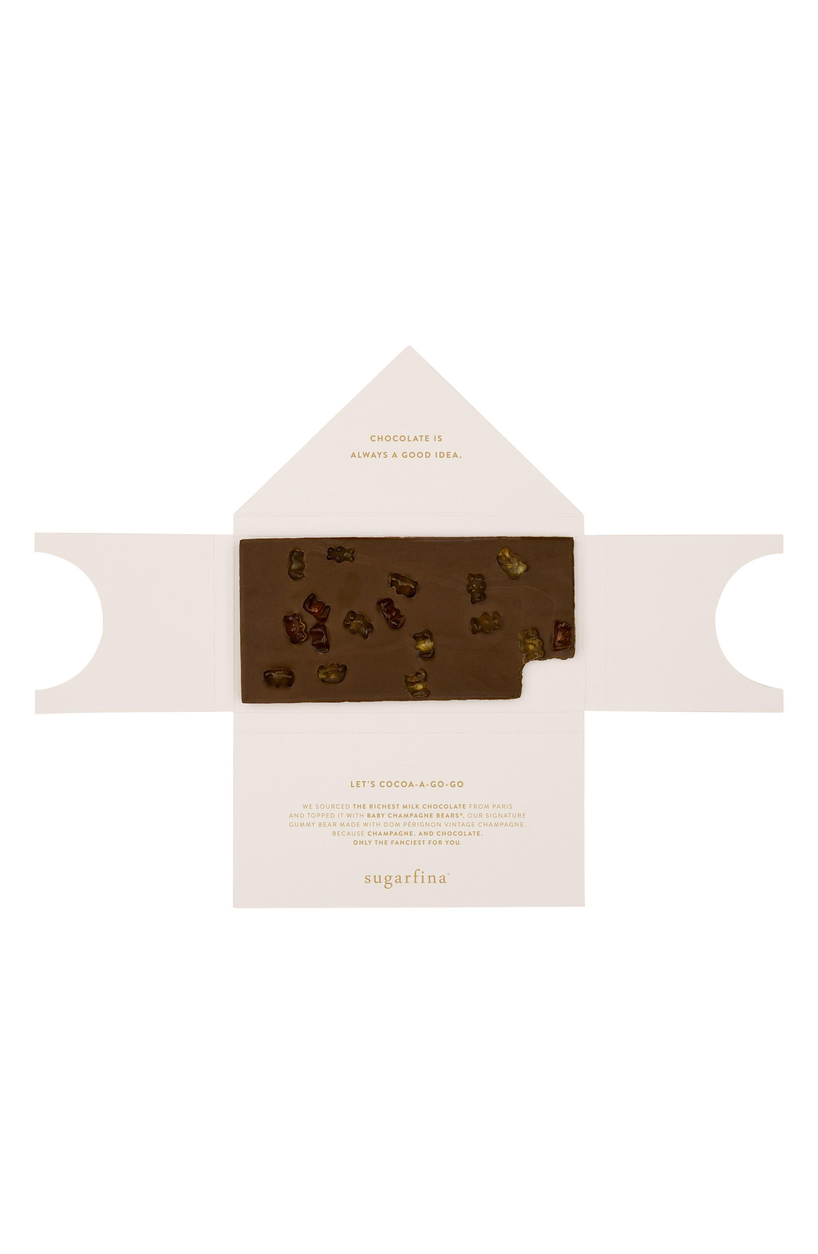 2-Pack Milk Chocolate Champagne Bears Bars,                             Alternate thumbnail 2, color,                             650