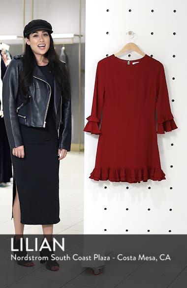 Tiered Ruffle Trim Crepe Dress, sales video thumbnail