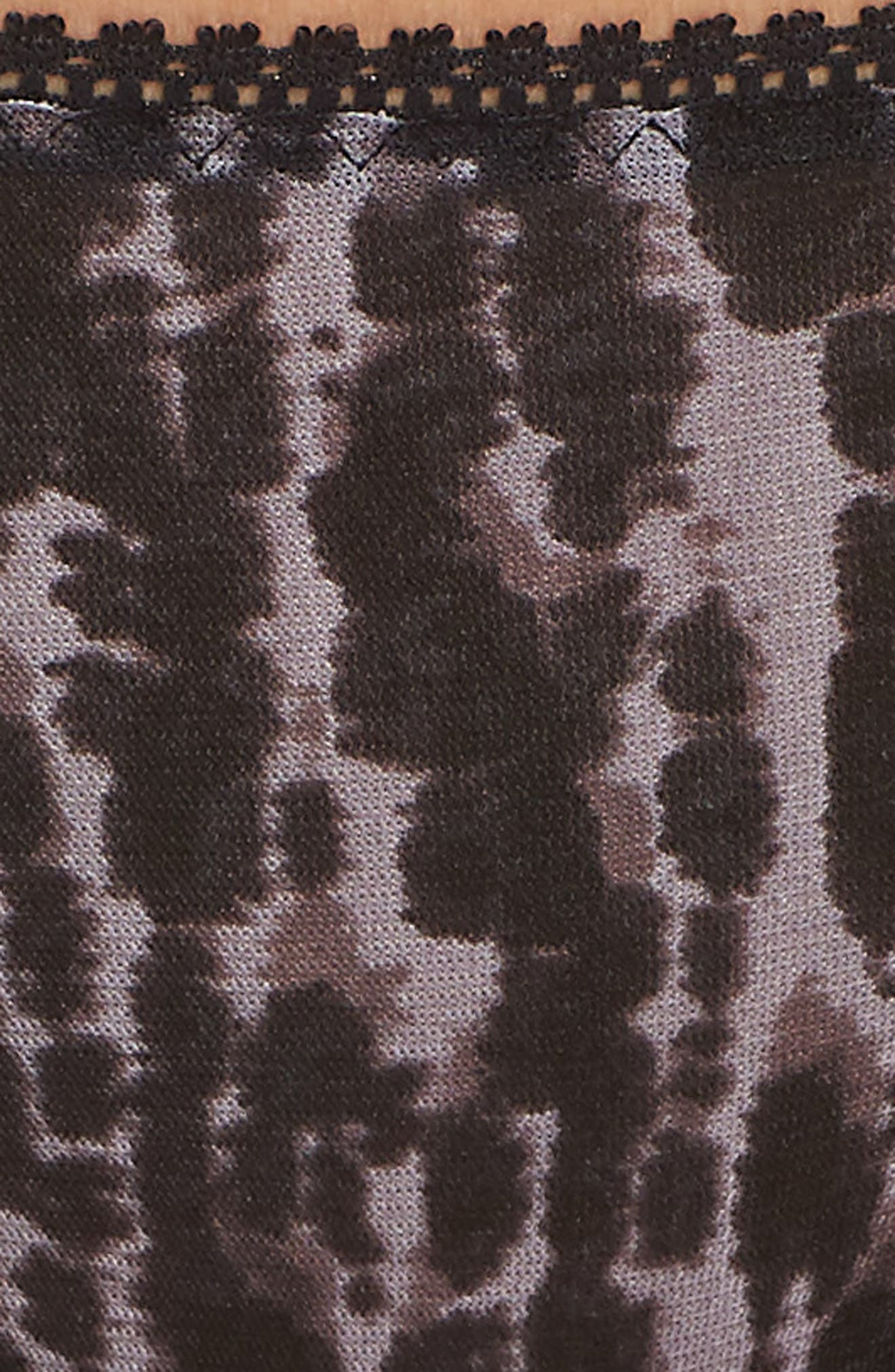 'Triple Twist' Mesh Thong,                             Alternate thumbnail 7, color,                             026