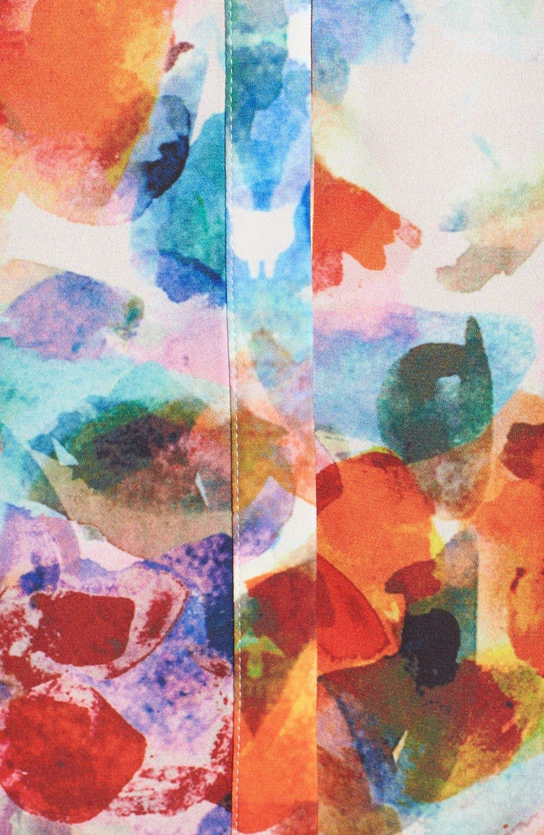 Pleat Back Sleeveless Split Neck Blouse,                             Alternate thumbnail 124, color,
