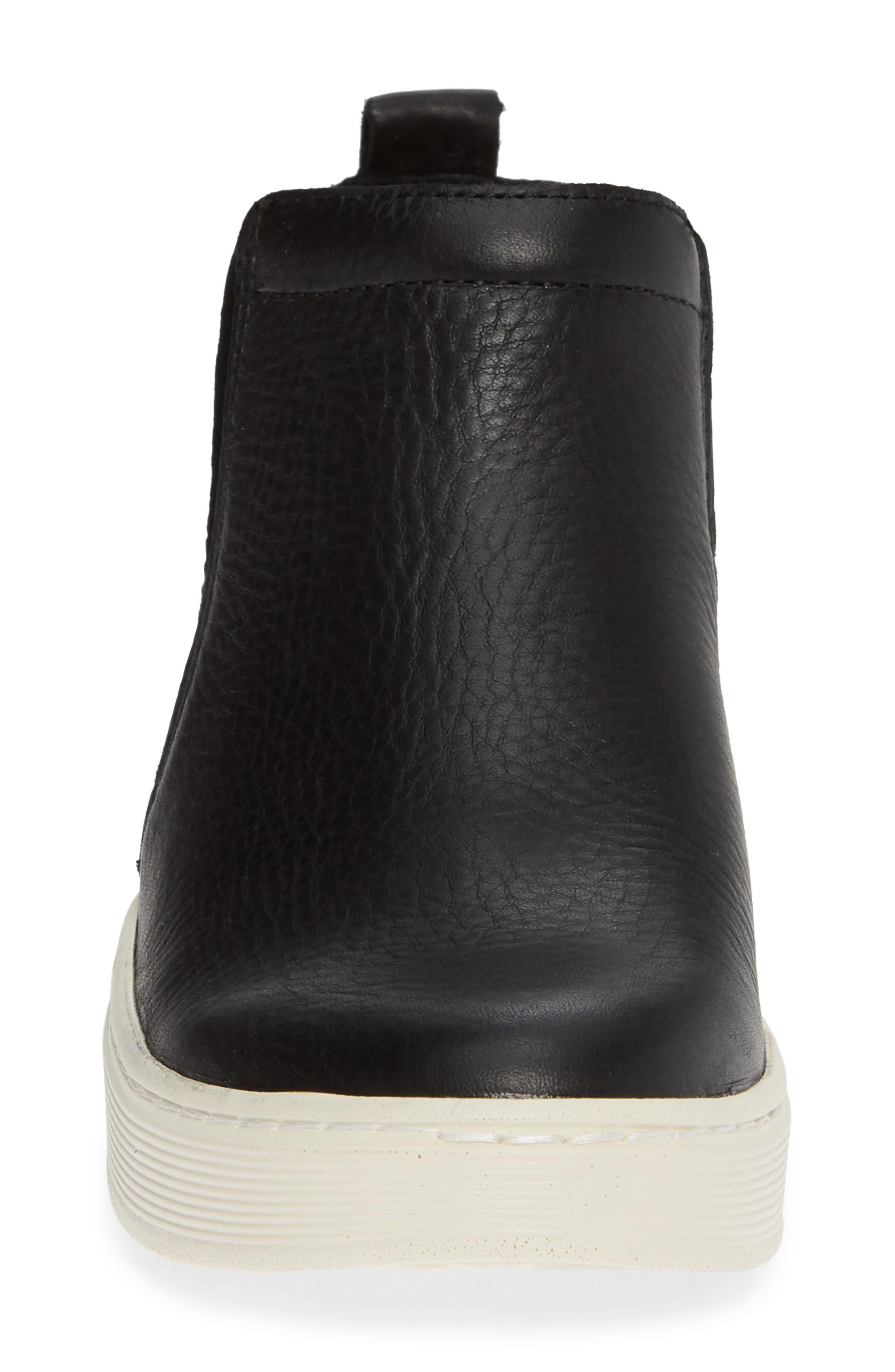 Britton II Waterproof Sneaker Bootie,                             Alternate thumbnail 4, color,                             BLACK LEATHER