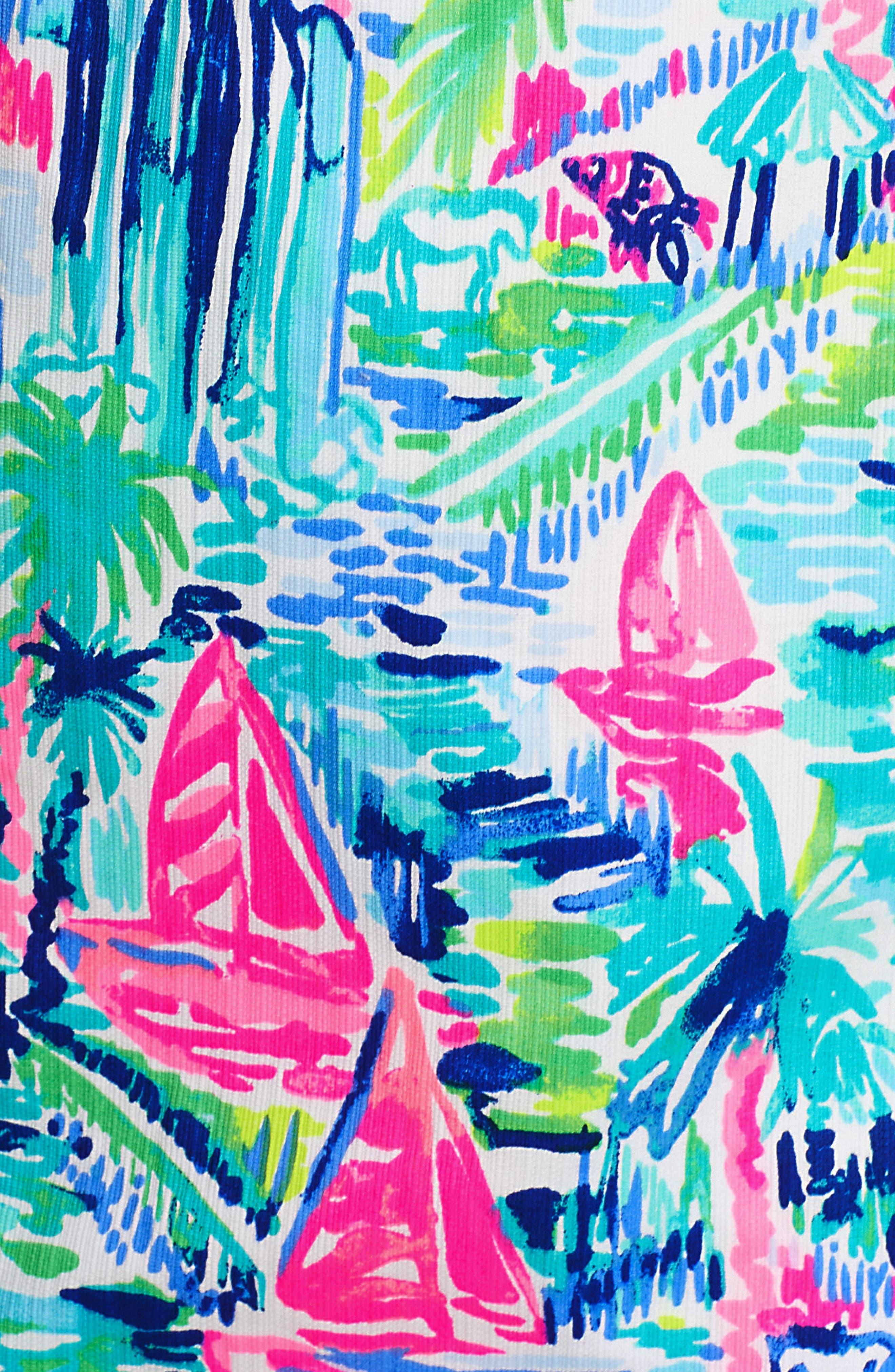Shelli Stretch Sundress,                             Alternate thumbnail 7, color,                             MULTI
