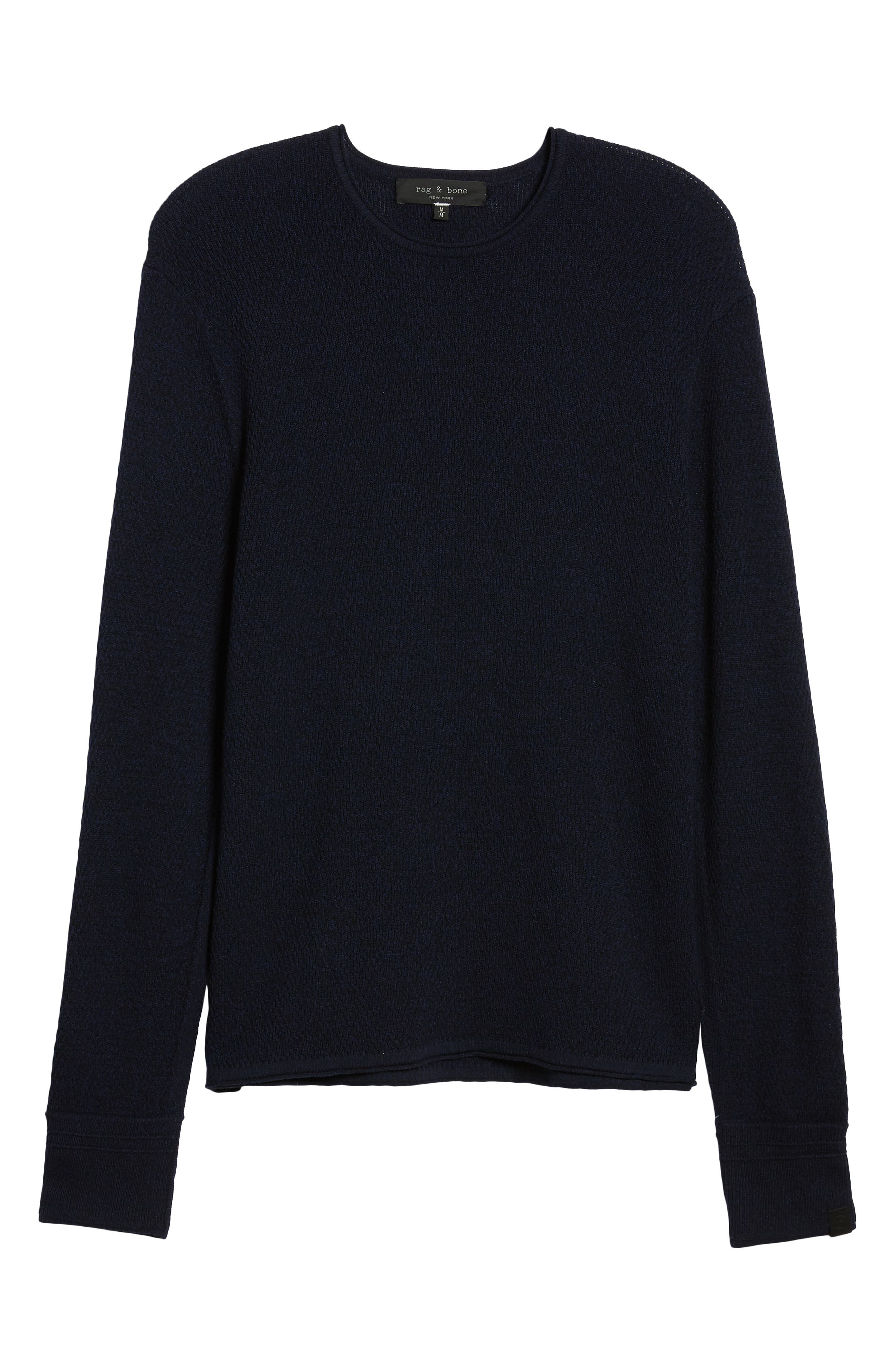 Gregory Wool Blend Crewneck Sweater,                             Alternate thumbnail 6, color,                             NAVY