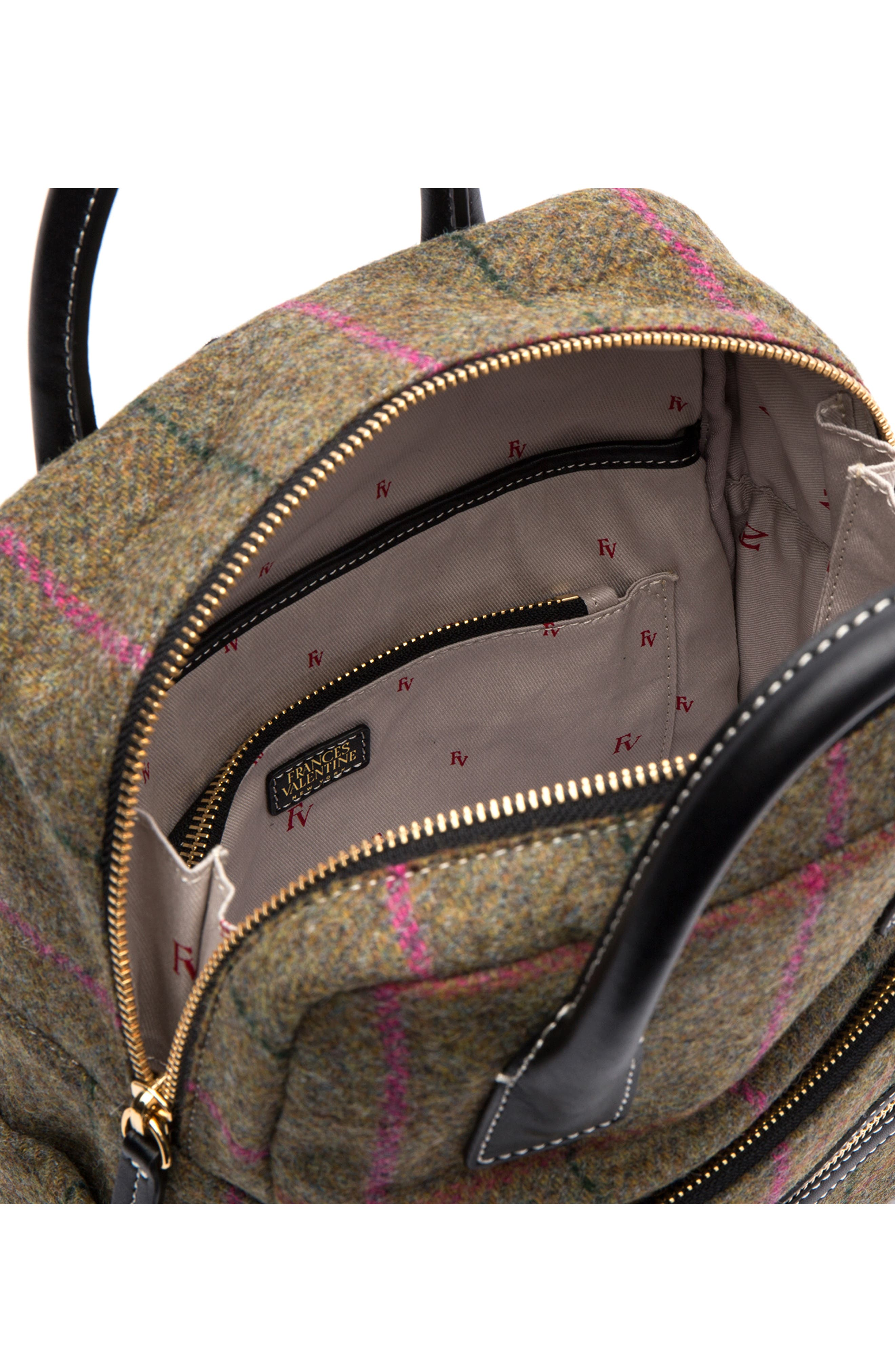 Plaid Wool Backpack,                             Alternate thumbnail 3, color,                             EQUESTRIAN PLAID