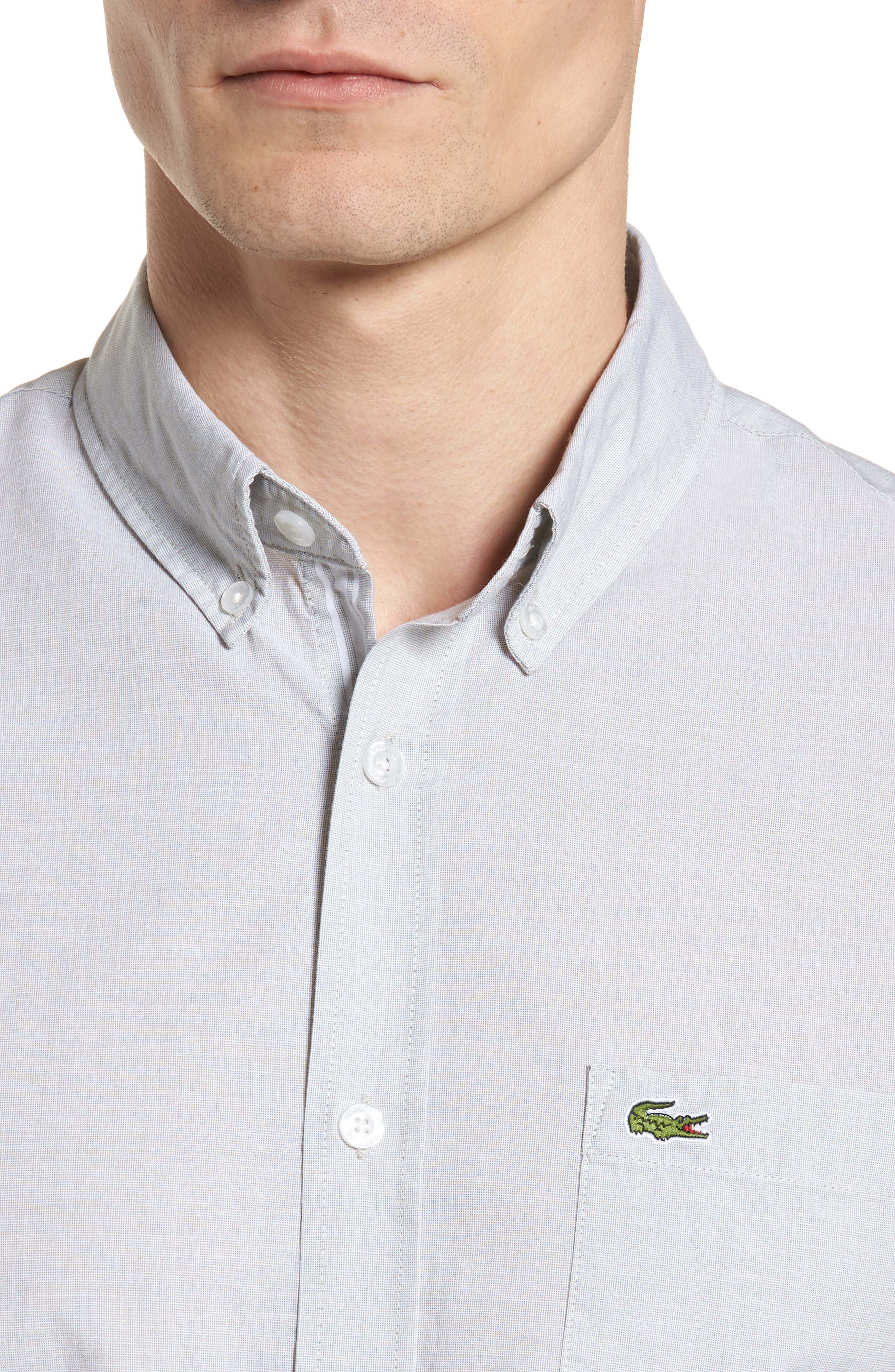 Slim Fit Sport Shirt,                             Alternate thumbnail 4, color,                             300