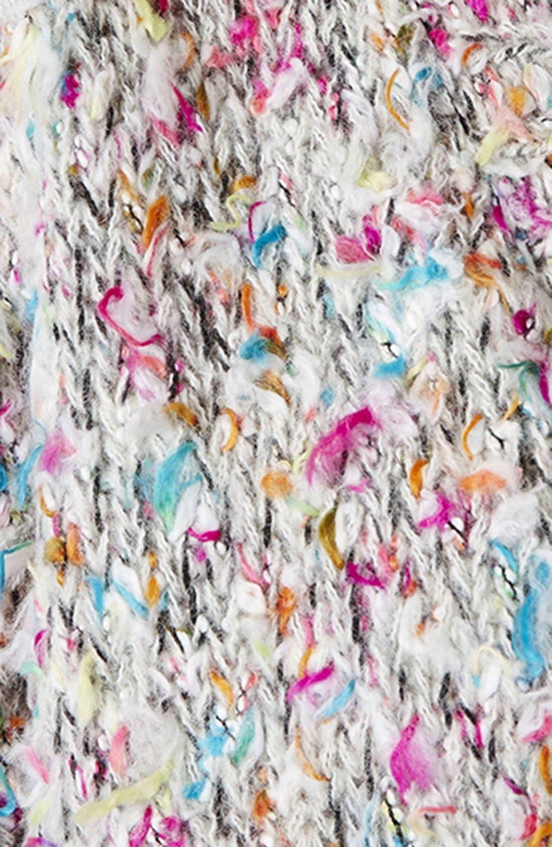 Textured Multicolor Cardigan,                             Alternate thumbnail 3, color,                             650
