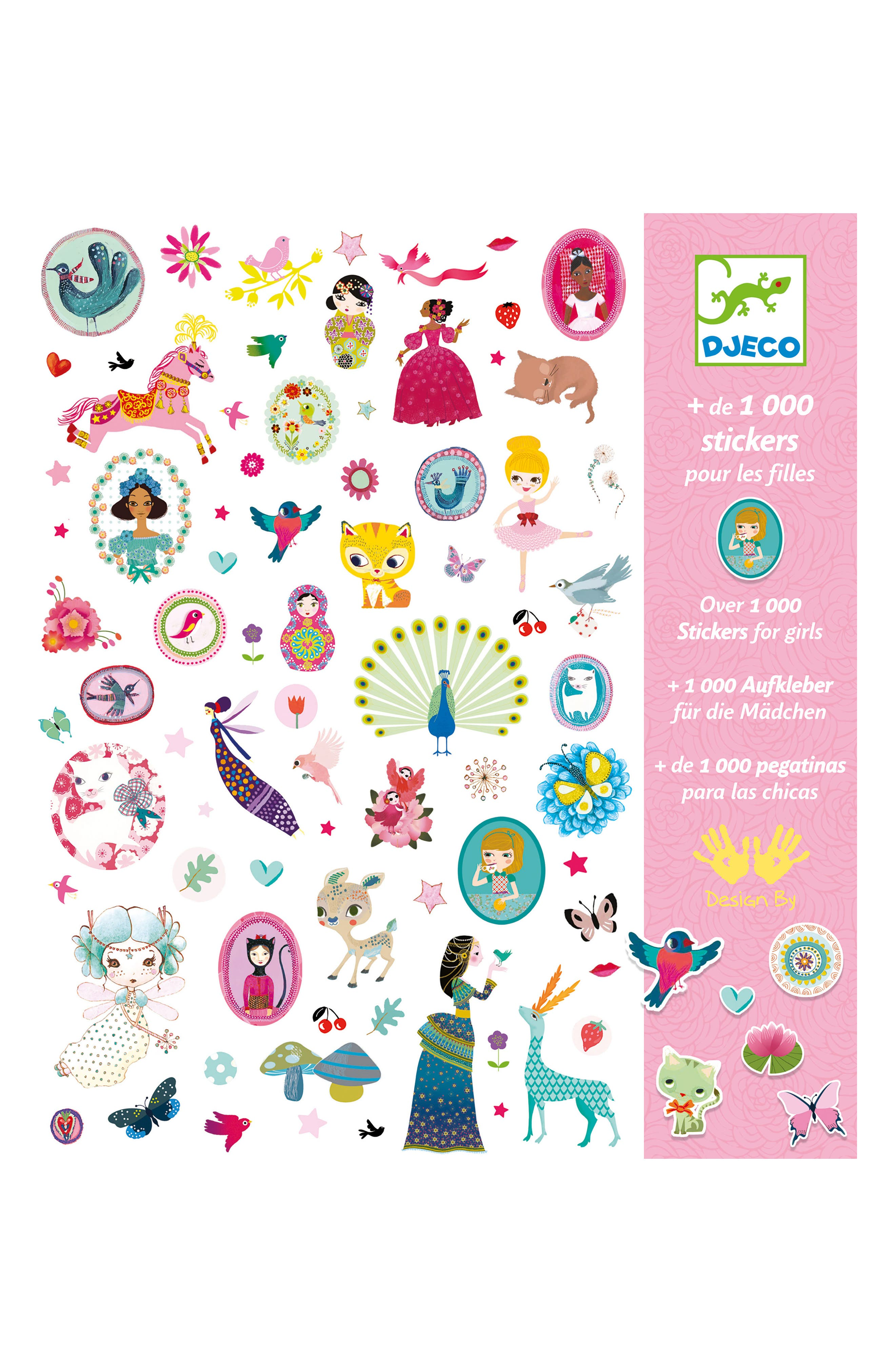 Over 1,000 Stickers for Girls Sticker Collection,                             Main thumbnail 1, color,                             100