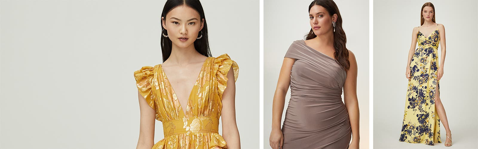 What's the dress code? Wedding-guest dresses.